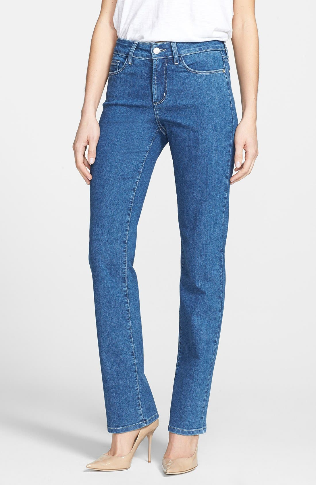 Alternate Image 1 Selected - NYDJ 'Marilyn' Stretch Straight Leg Jeans (Maryland)