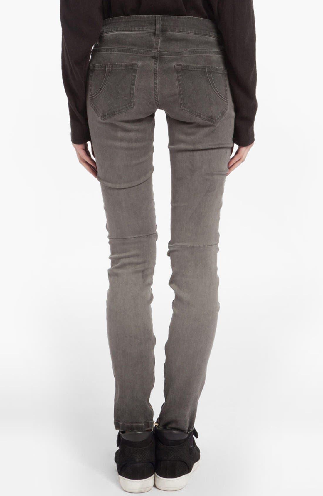 Alternate Image 2  - maje 'Diabolo' Skinny Jeans (Charcoal Grey)