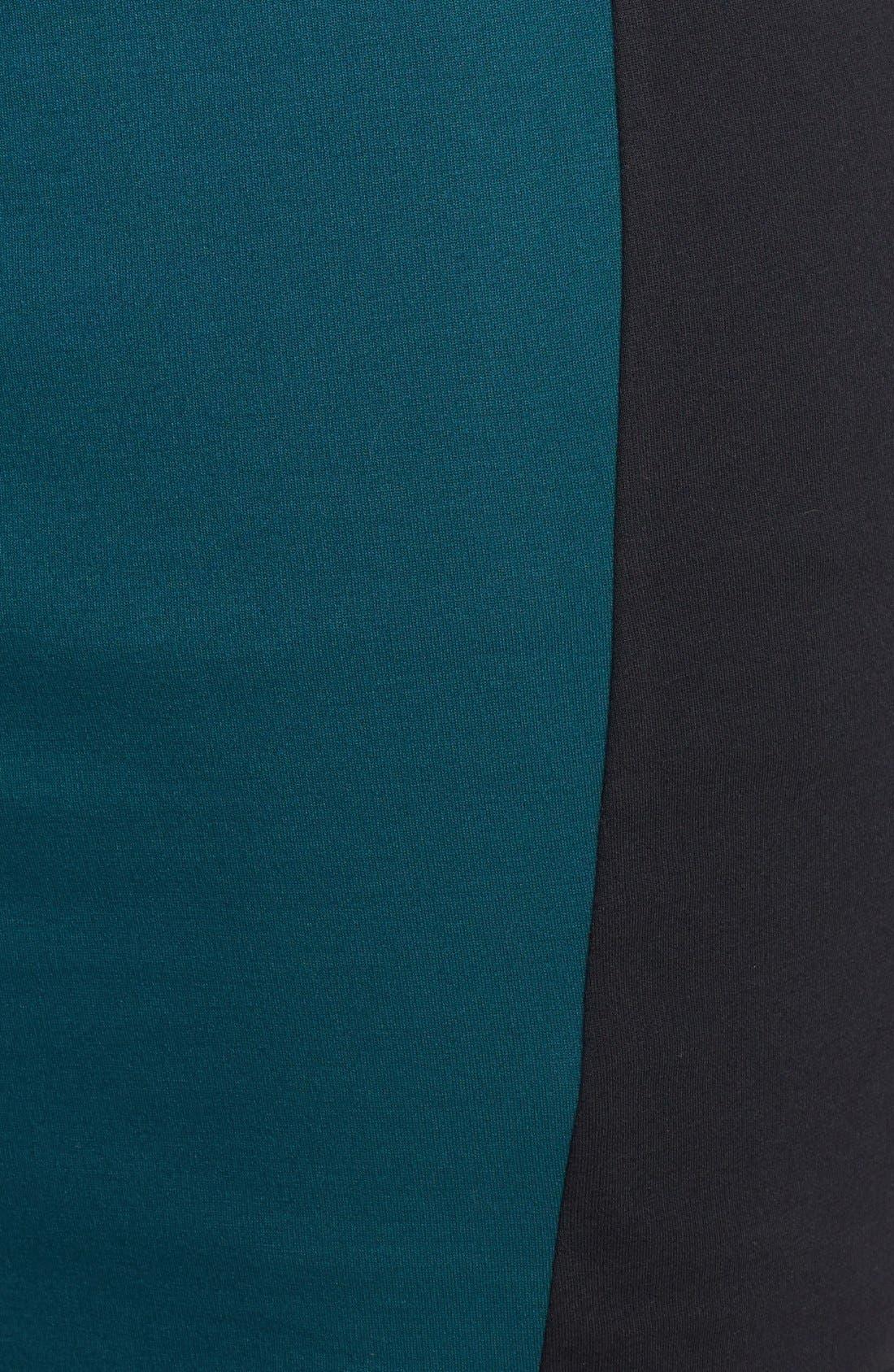 Alternate Image 3  - Scarlett & Jo Colorblock Wrap Front Sheath Dress (Plus Size)