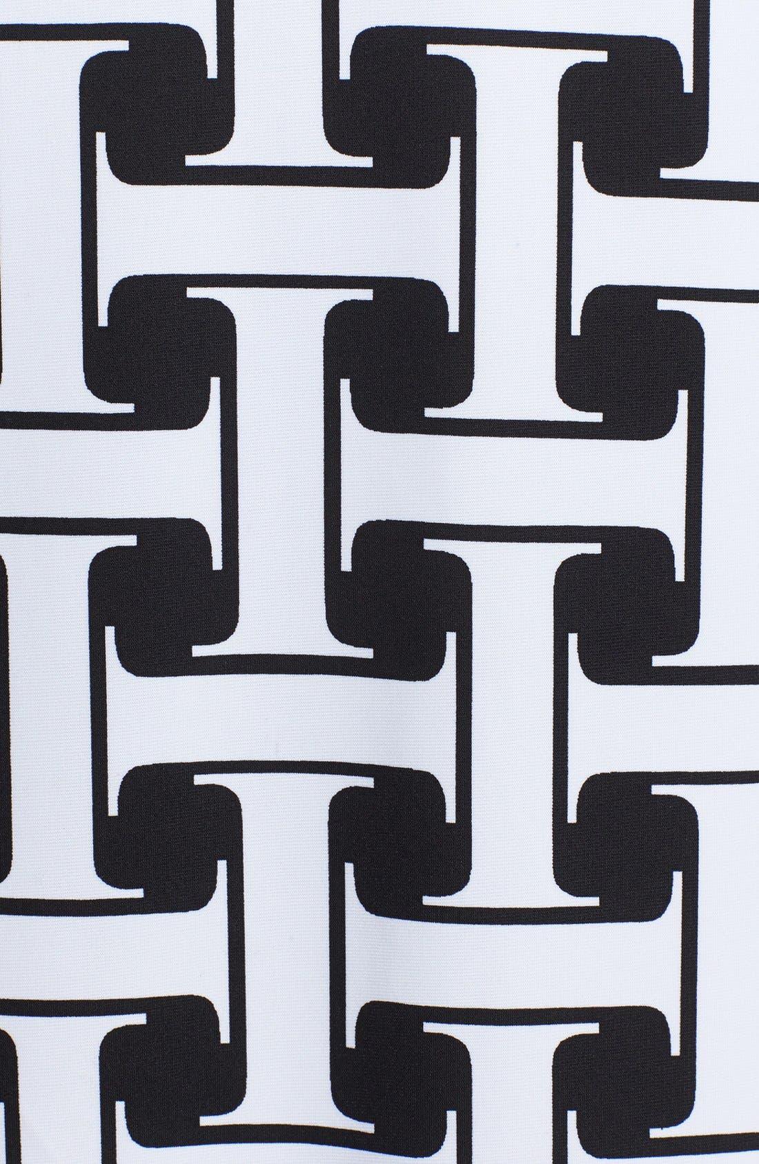 Alternate Image 4  - Isaac Mizrahi New York Print Stretch Jersey Shift Dress