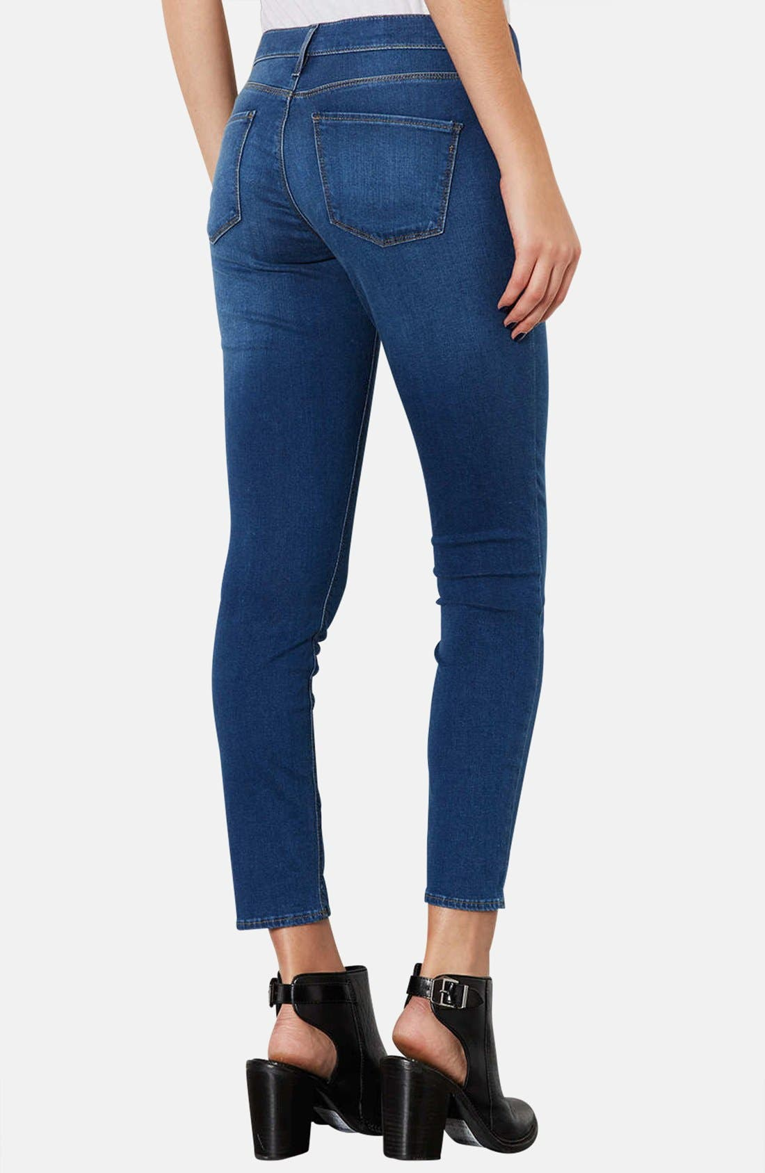 Alternate Image 2  - Topshop Moto 'Leigh' Skinny Maternity Jeans (Mid Stone)