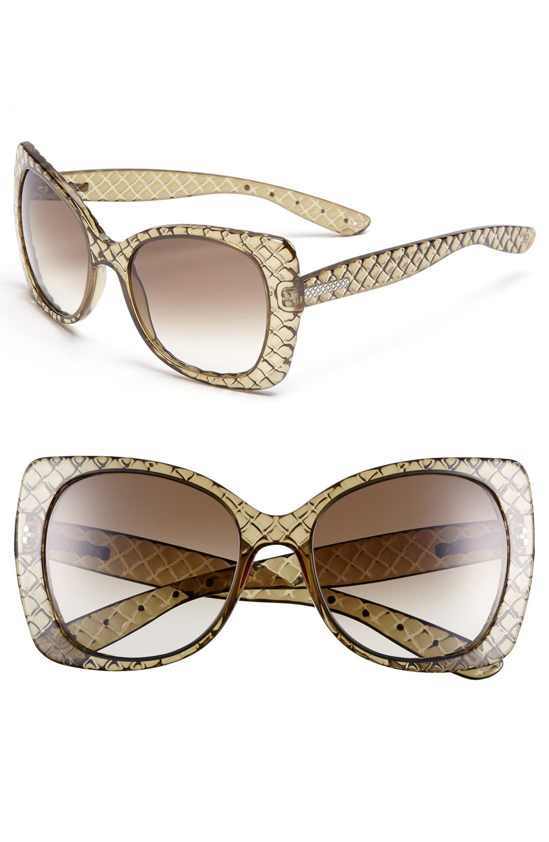 Alternate Image 1 Selected - Bottega Veneta 55mm Oversized Sunglasses