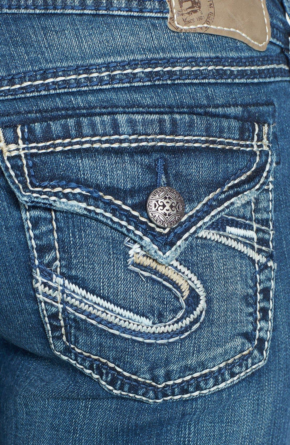 Alternate Image 3  - Silver Jeans Co. 'Suki' Stretch Bootcut Jeans (Indigo)