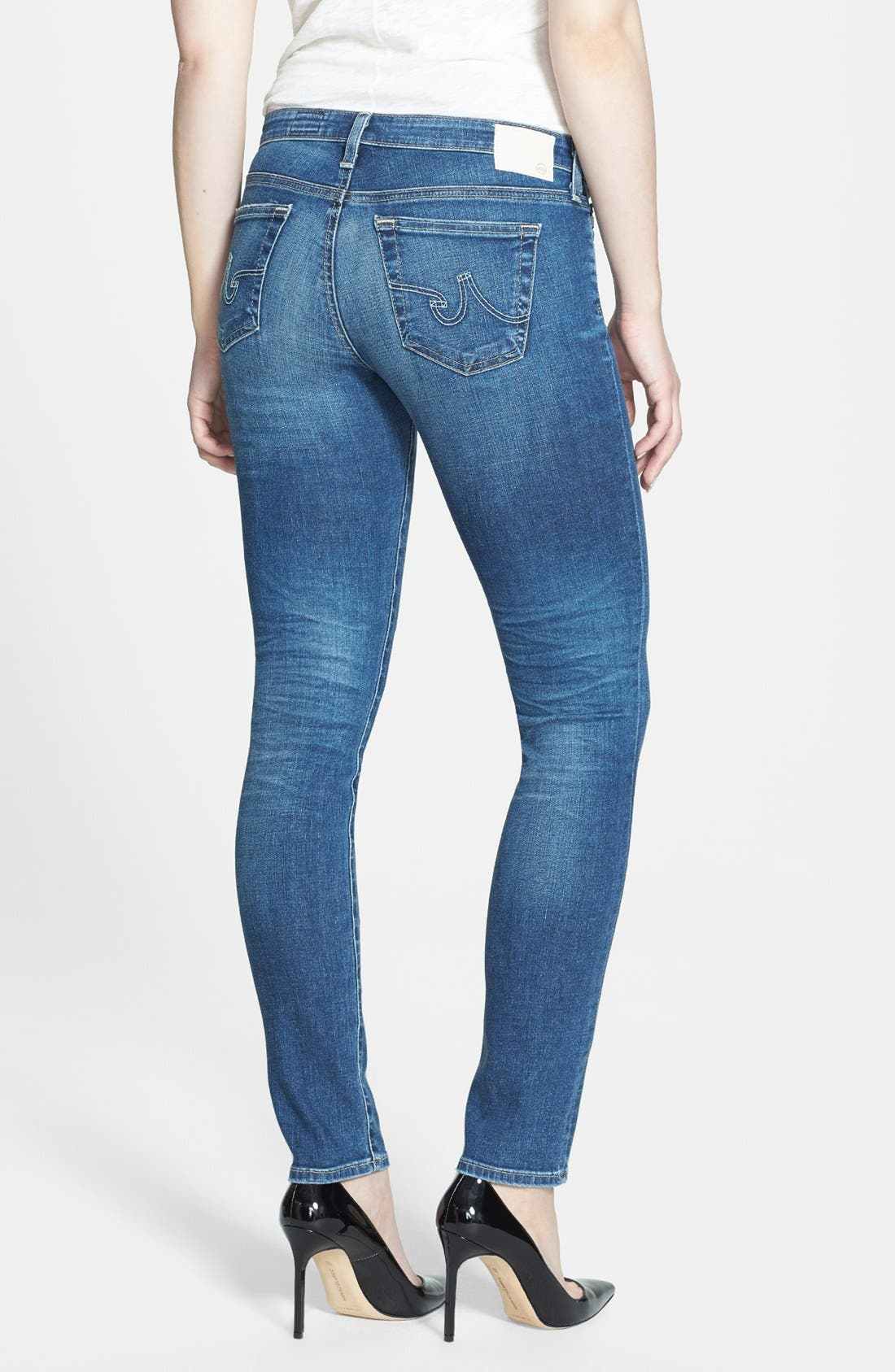 Alternate Image 2  - AG 'The Stilt' Cigarette Leg Jeans (Eighteen Year)