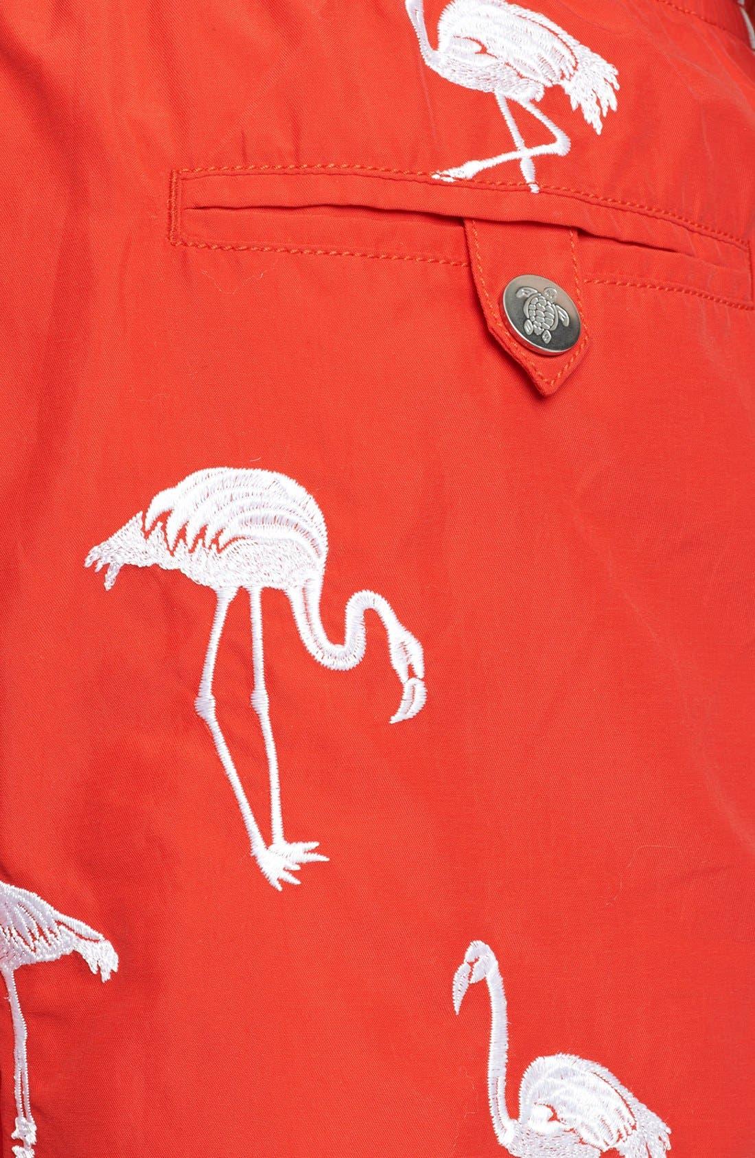 Alternate Image 3  - Vilebrequin 'Mistral' Embroidered Flamingo Swim Trunks