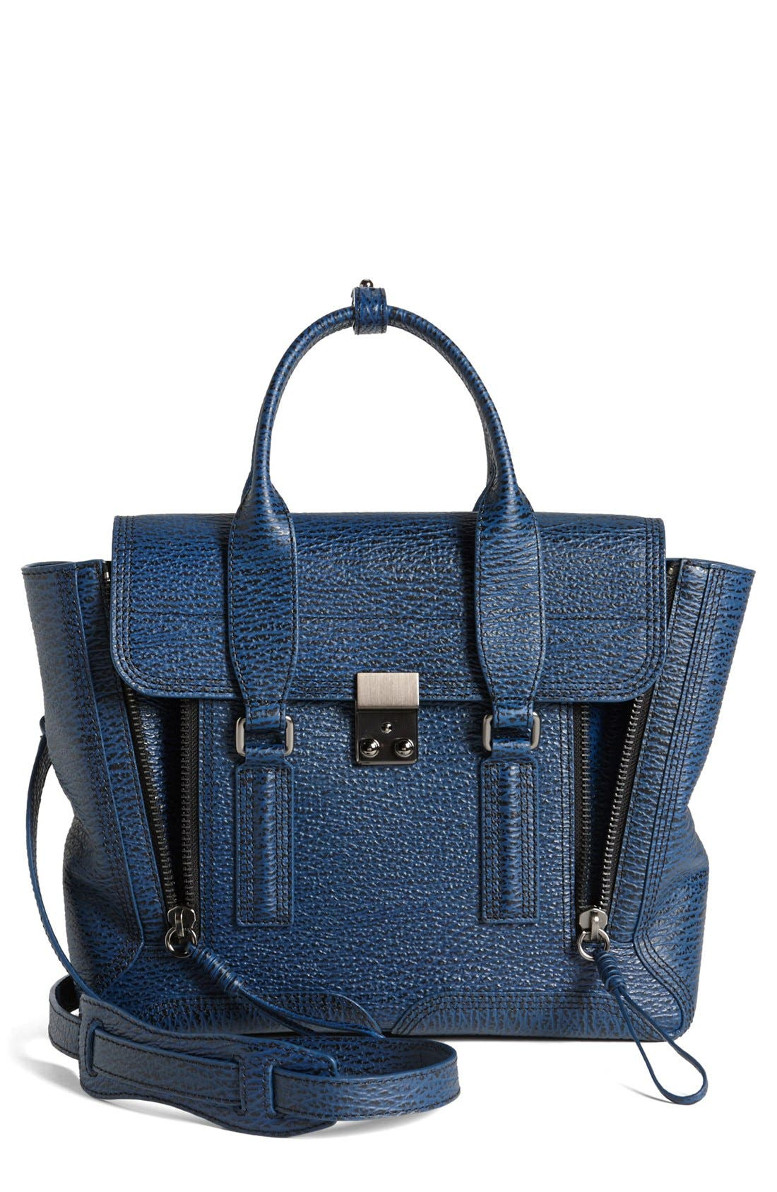 Alternate Image 1 Selected - 3.1 Phillip Lim 'Medium Pashli' Shark Embossed Leather Satchel