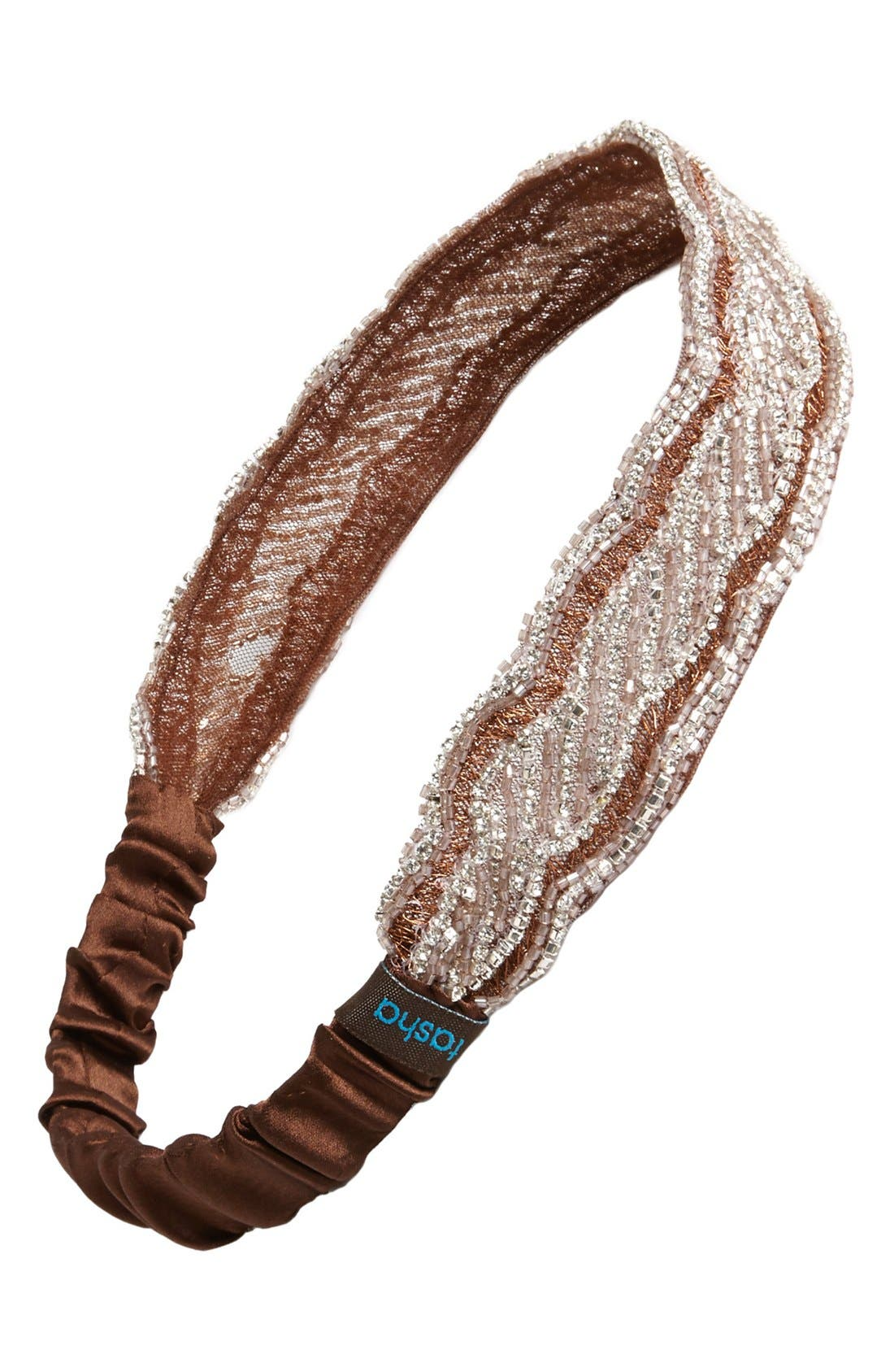 Alternate Image 1 Selected - Tasha 'Garter' Crystal Head Wrap