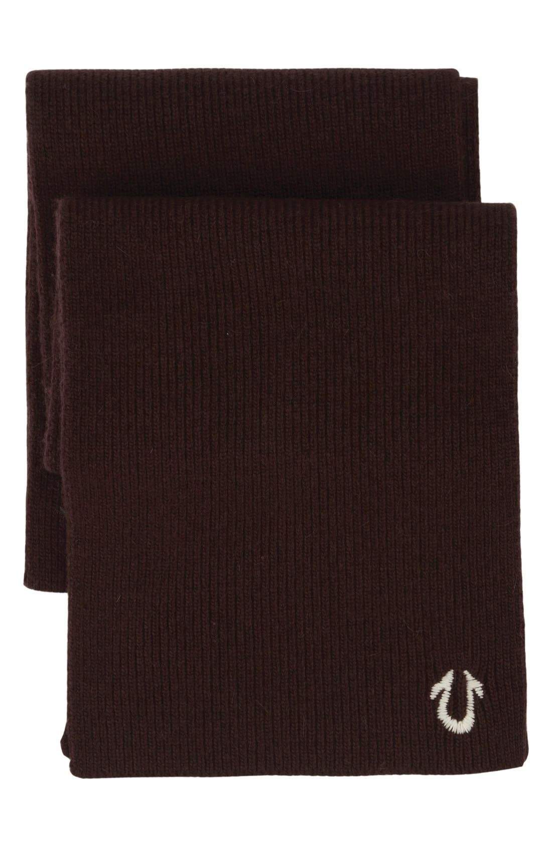 Alternate Image 1 Selected - True Religion Brand Jeans Rib Knit Scarf
