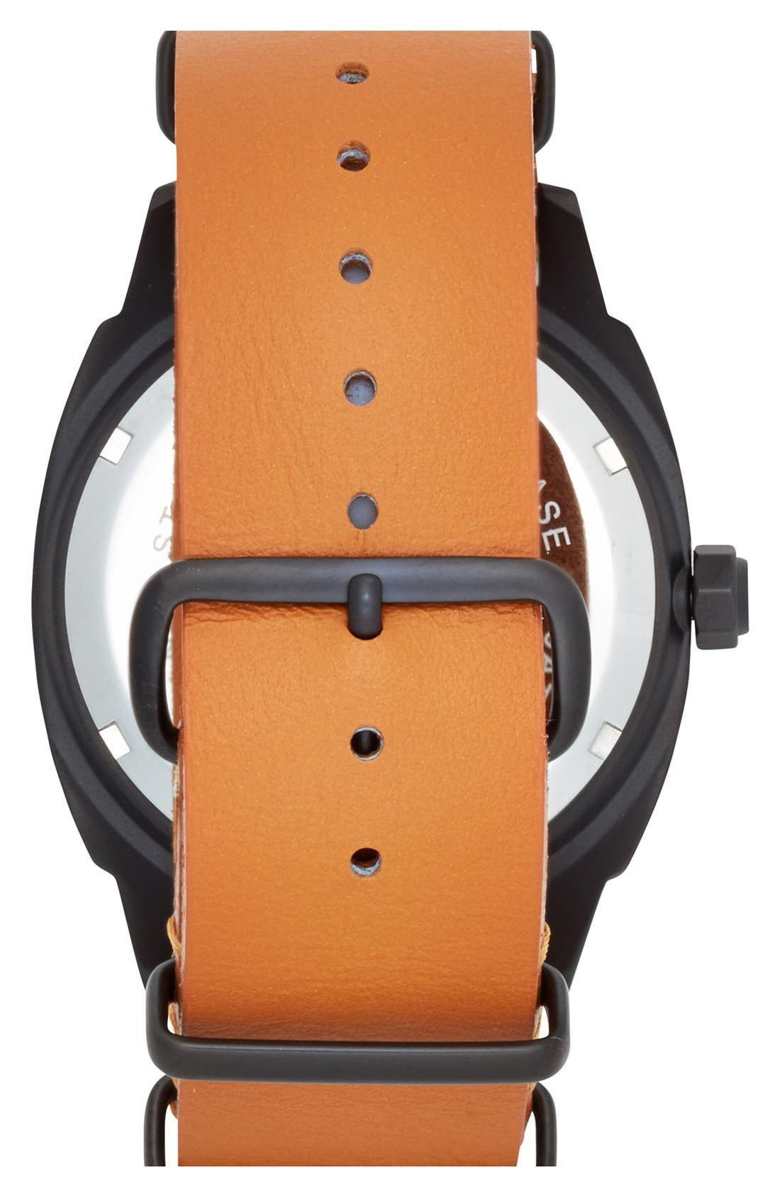 Alternate Image 2  - TOYWATCH 'Icon' Leather Strap Watch, 43mm