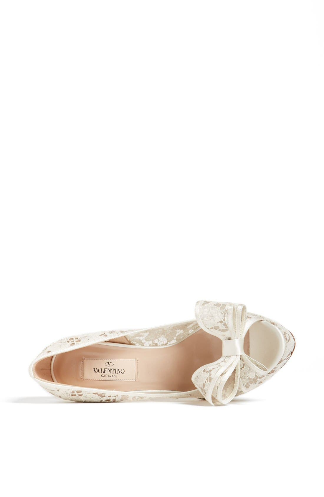Alternate Image 3  - Valentino 'Lace Couture Bow' Open Toe Pump