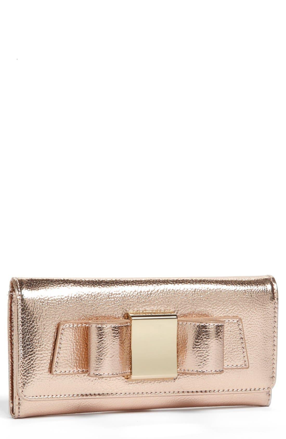 Main Image - Ivanka Trump 'Blair' Metallic Wallet