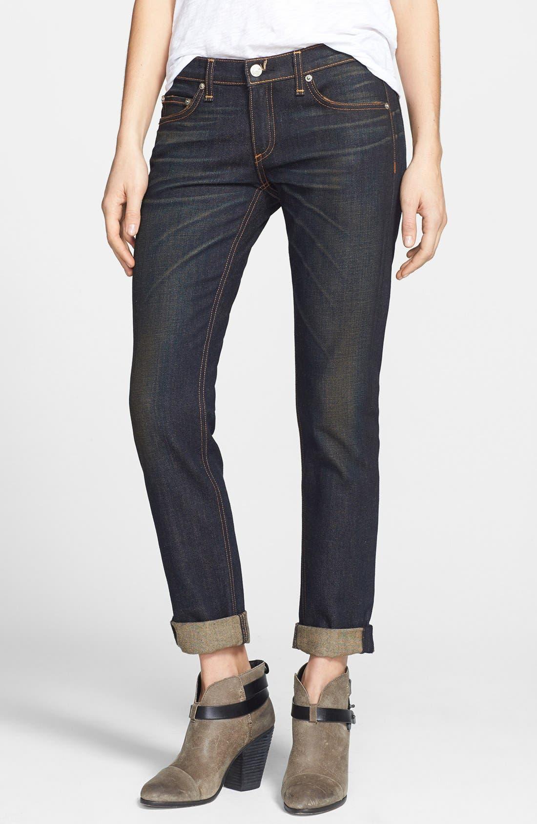 Alternate Image 1 Selected - rag & bone/JEAN 'The Dre' Slim Fit Boyfriend Jeans (Charing)