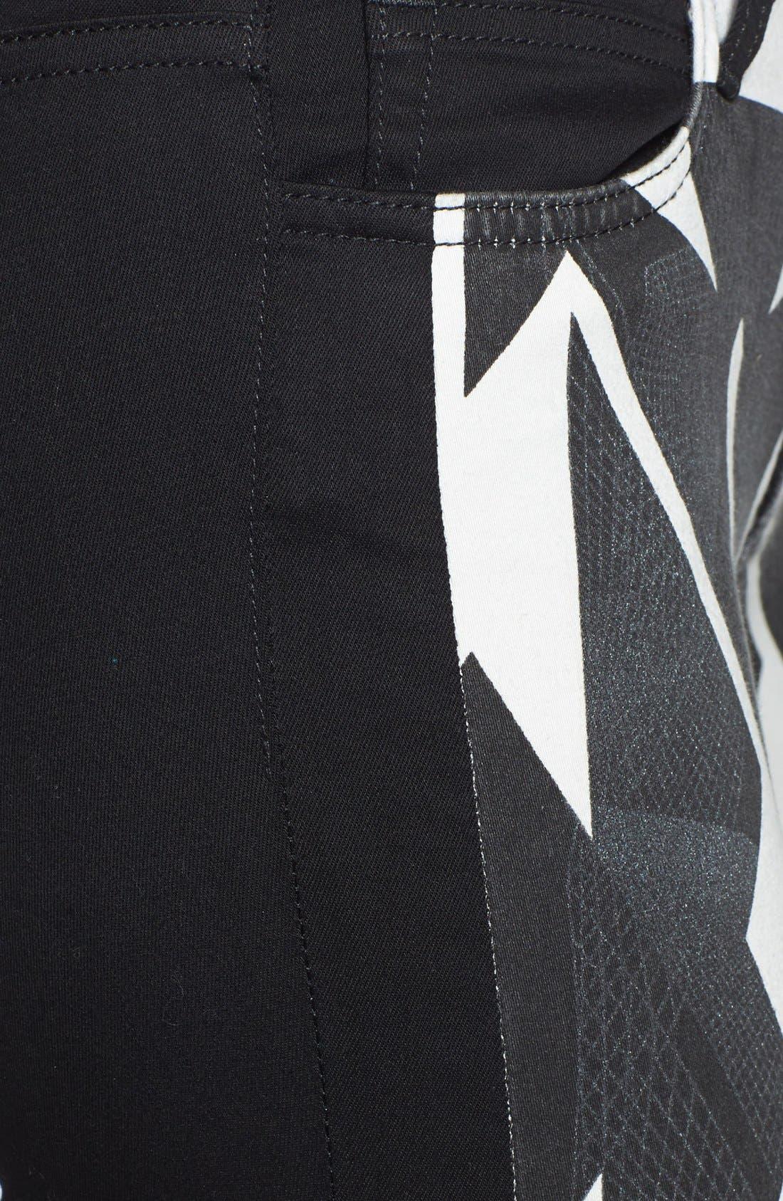 Alternate Image 3  - Joe's Print Front Skinny Ankle Jeans (Matrix Print)