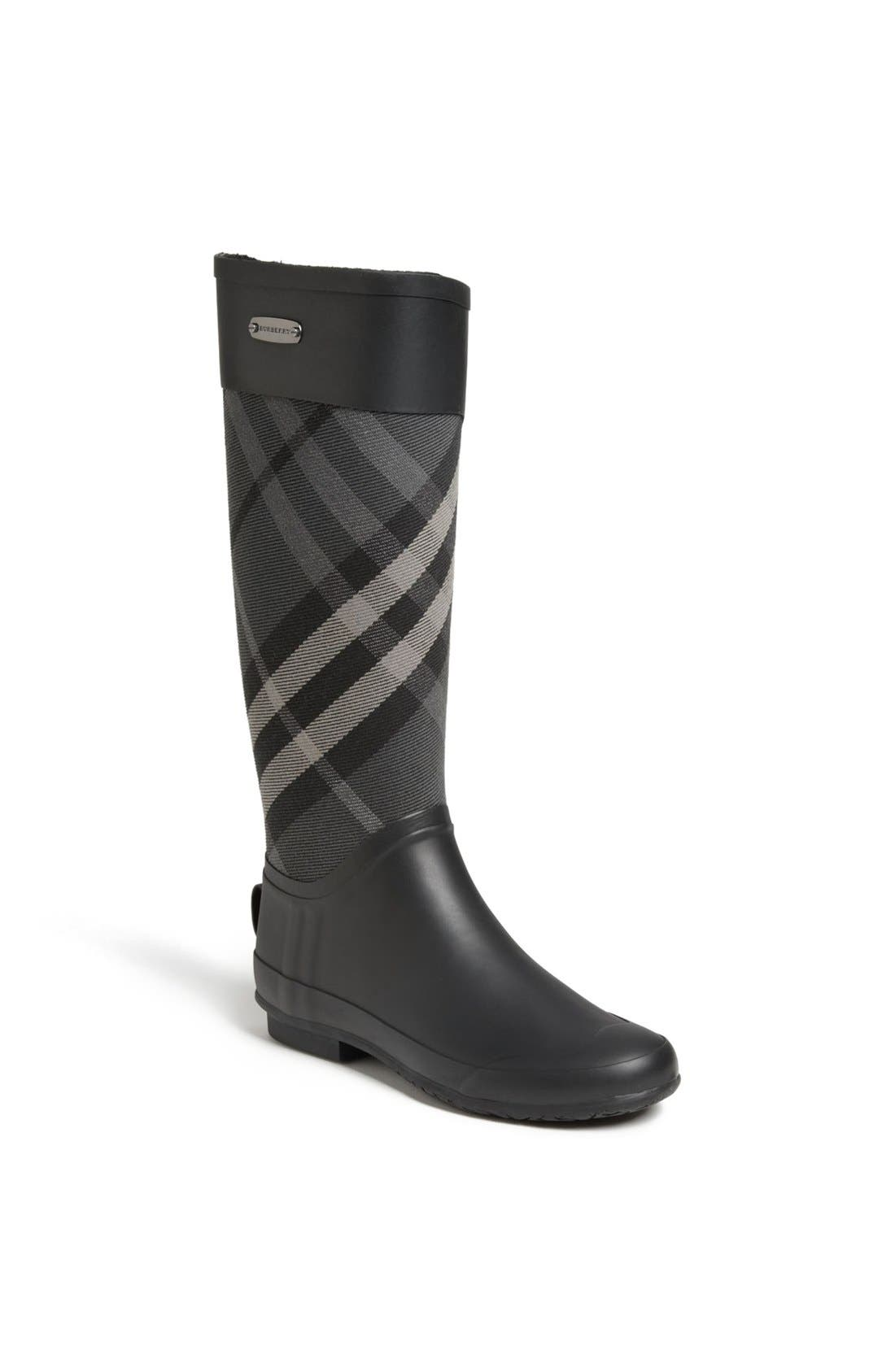 Alternate Image 1 Selected - Burberry Clemence Rain Boot (Women)