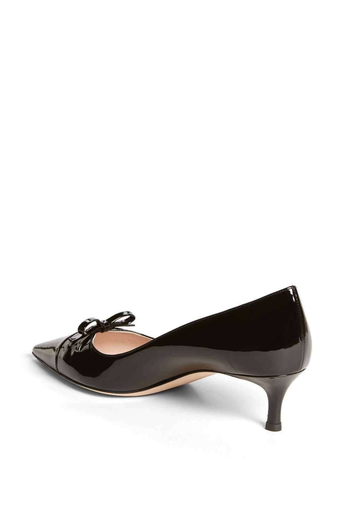 Alternate Image 2  - Miu Miu Pointed Toe Bow Pump