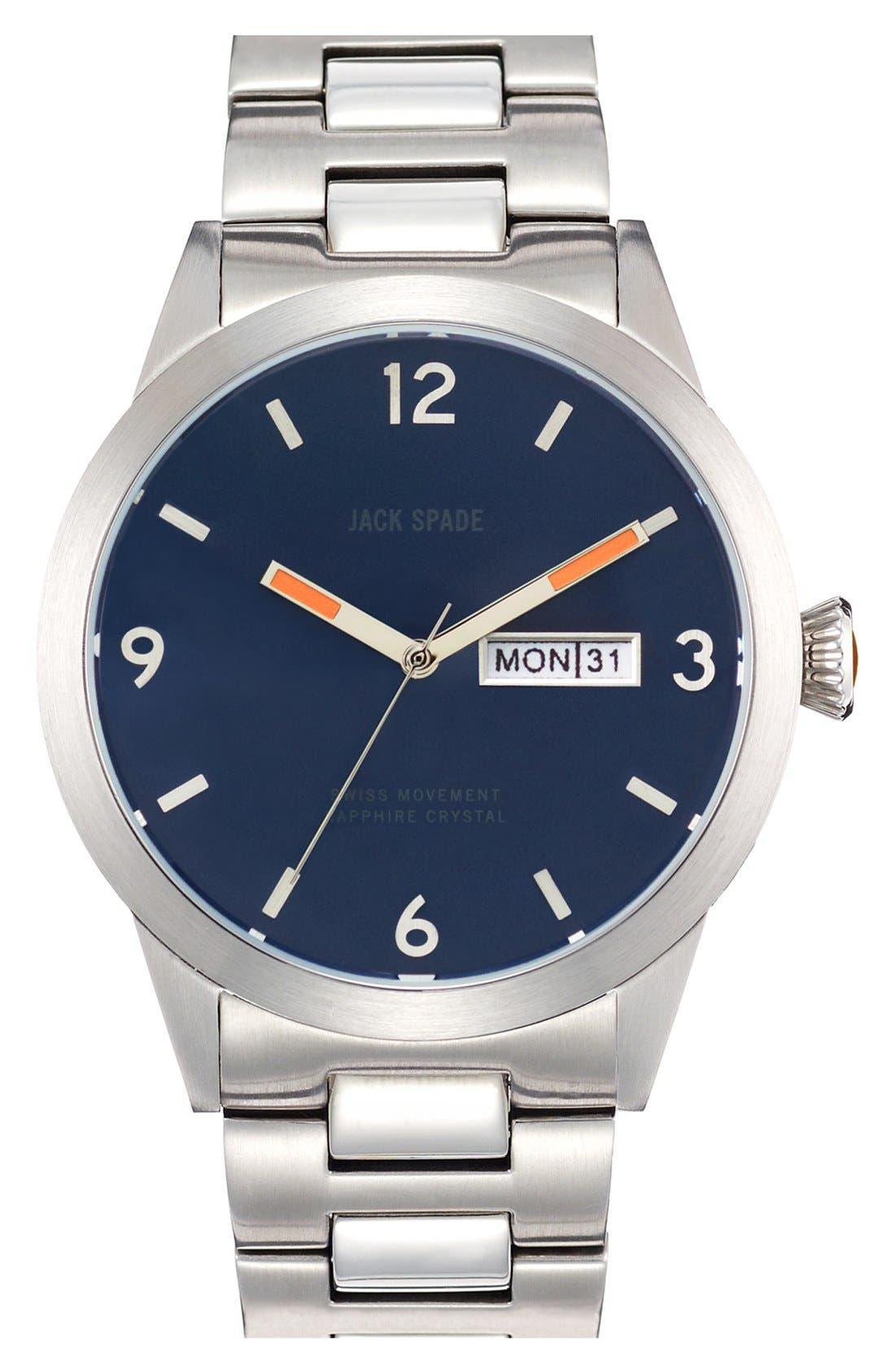 Main Image - Jack Spade 'Glenwood' Bracelet Watch, 42mm