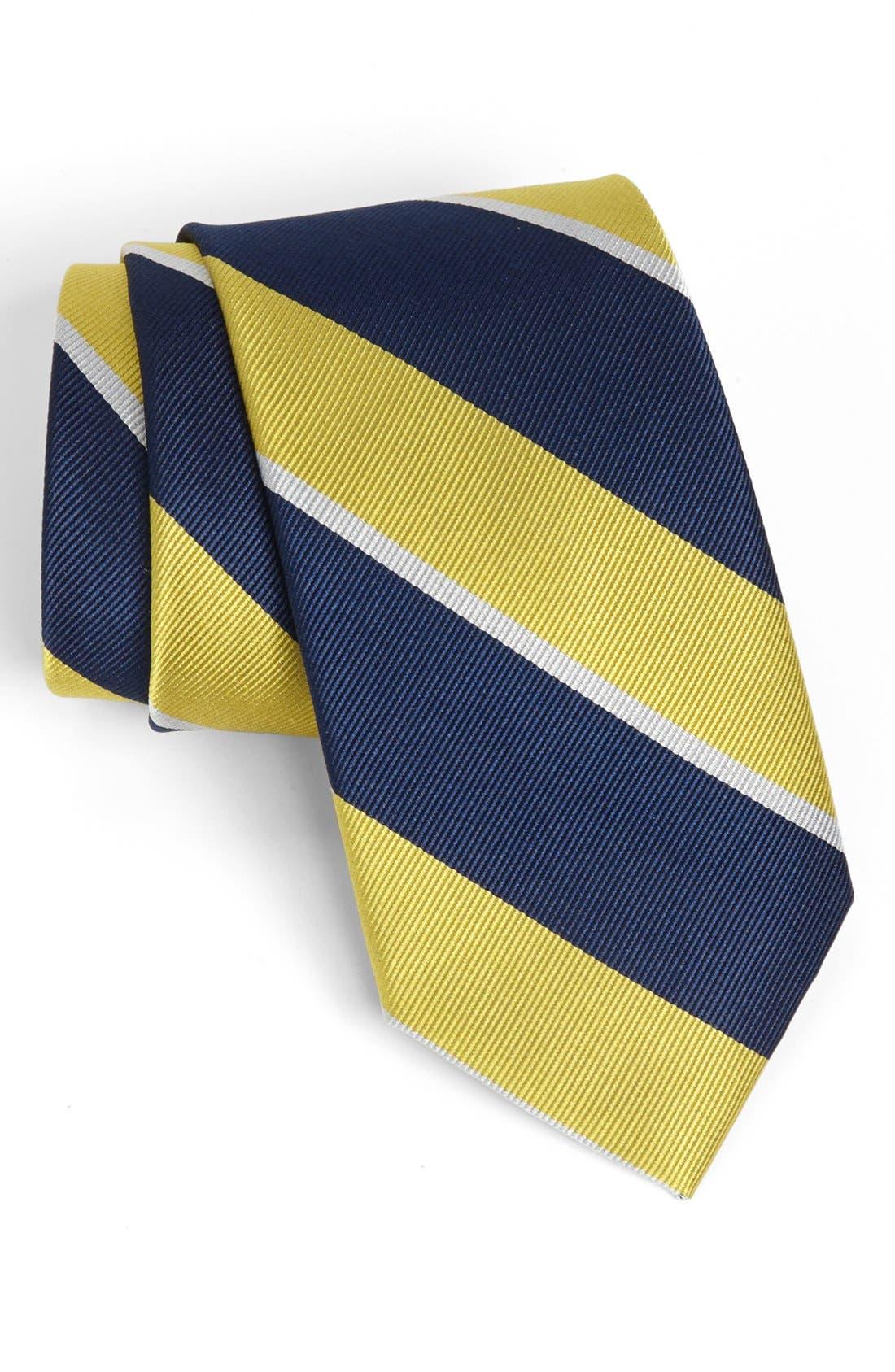 Alternate Image 1 Selected - 1901 'Overlook' Stripe Silk Tie