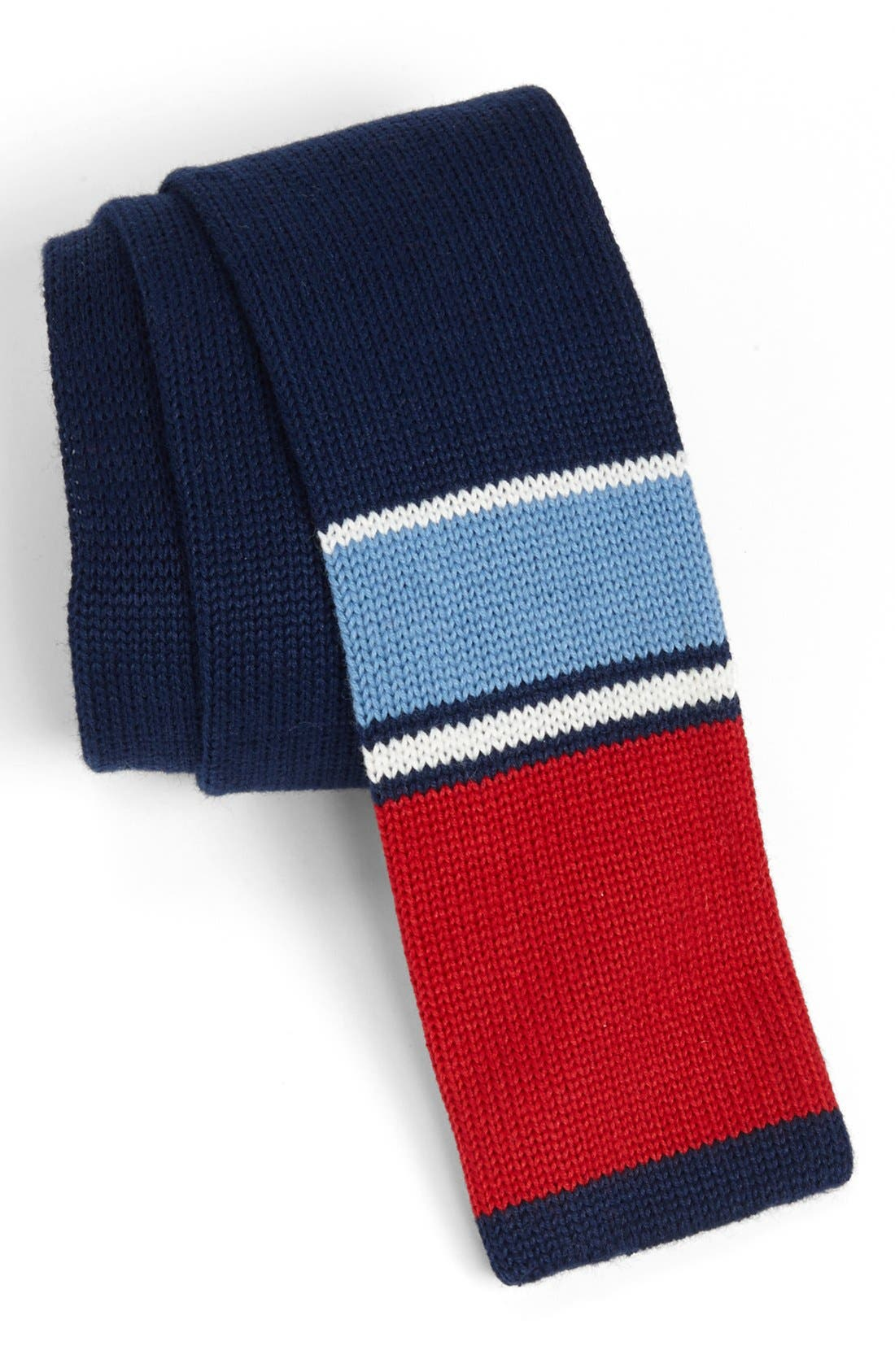 Main Image - 1901 Knit Cotton Tie