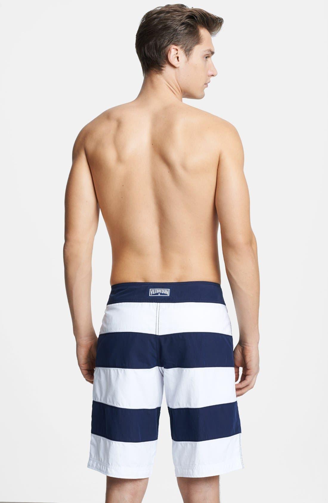 Alternate Image 2  - Vilebrequin 'Octant' Stripe Board Shorts