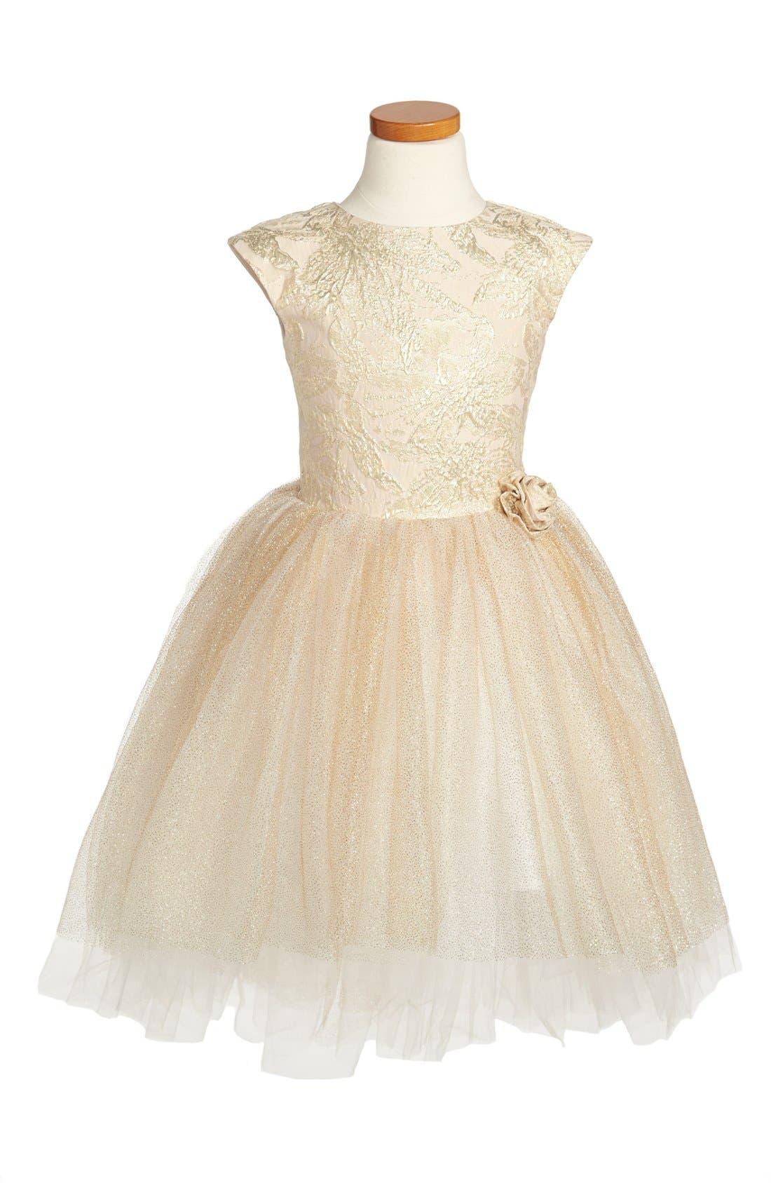Alternate Image 1 Selected - Halabaloo 'Princess' Dress (Little Girls & Big Girls)