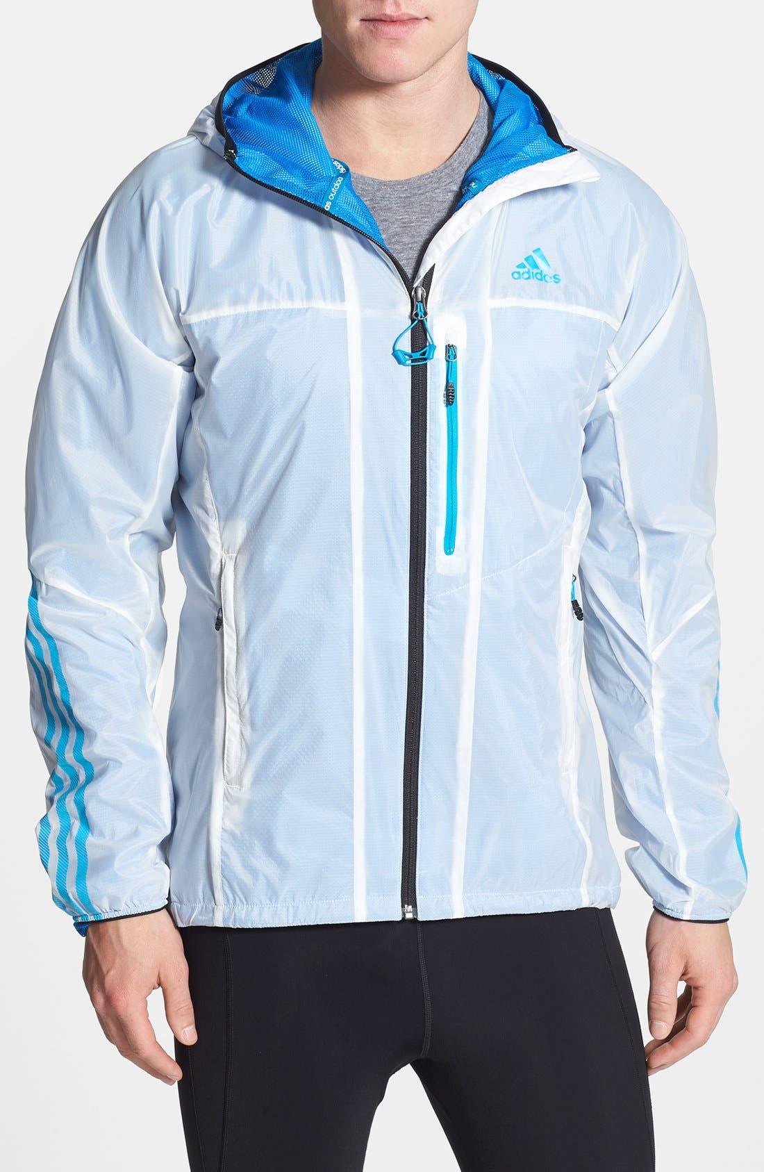 Alternate Image 1 Selected - adidas 'Terrex - Swift Wind' CLIMAPROOF® Hooded Wind & Water-Resistant Jacket