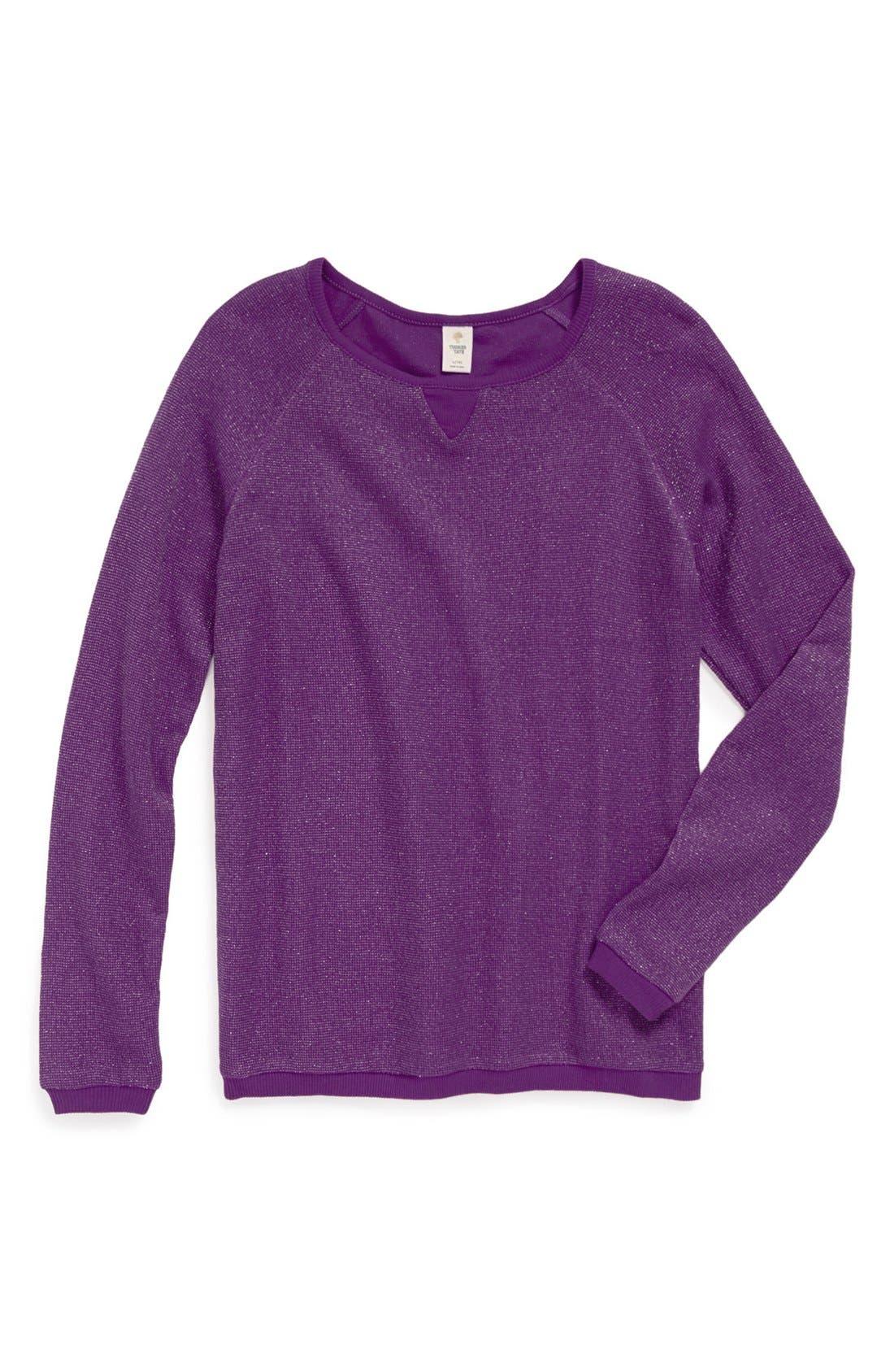 Alternate Image 1 Selected - Tucker + Tate 'Dakota' Thermal Sweatshirt (Big Girls)