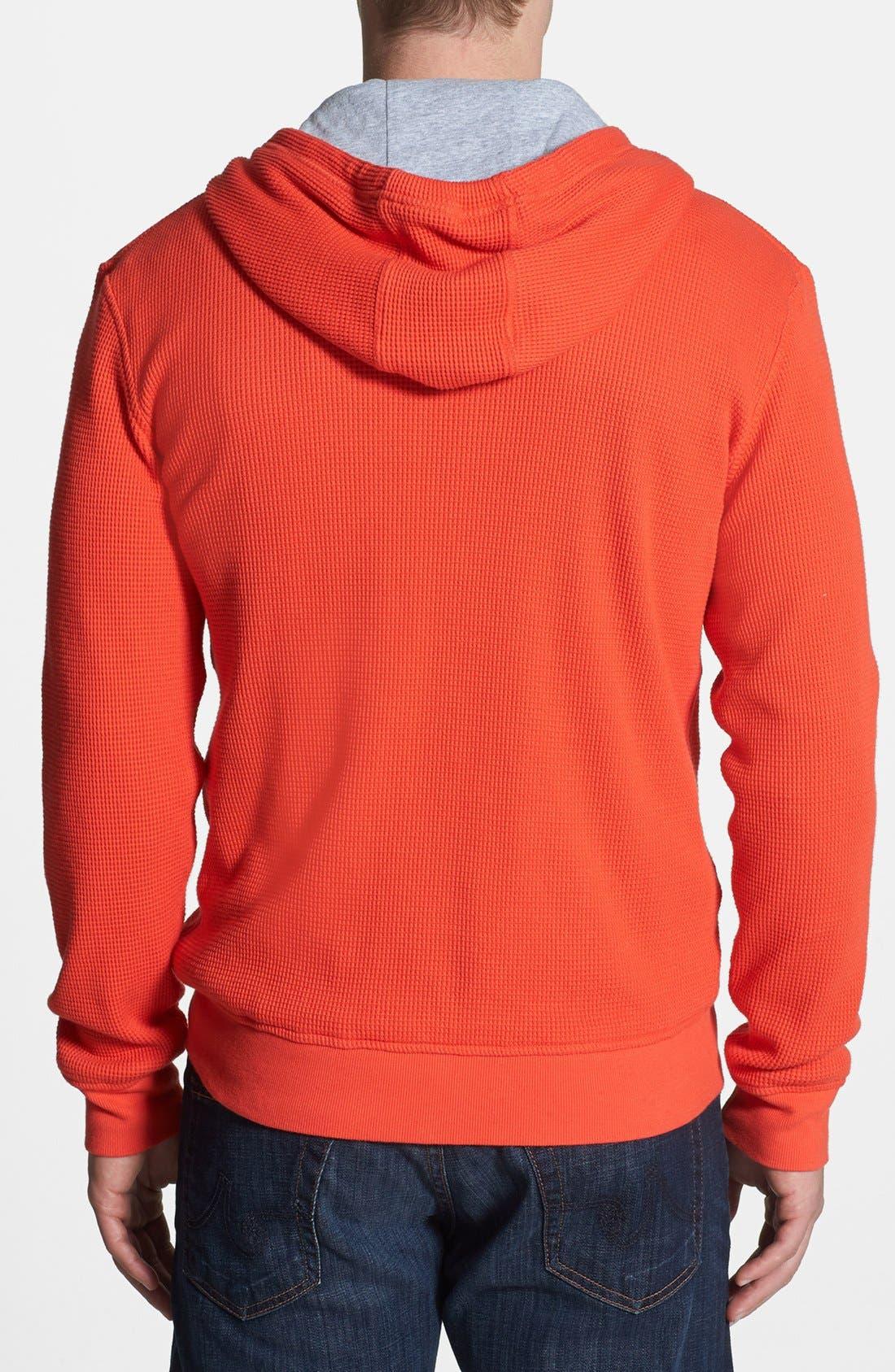 Alternate Image 2  - Michael Kors Thermal Knit Zip Hoodie
