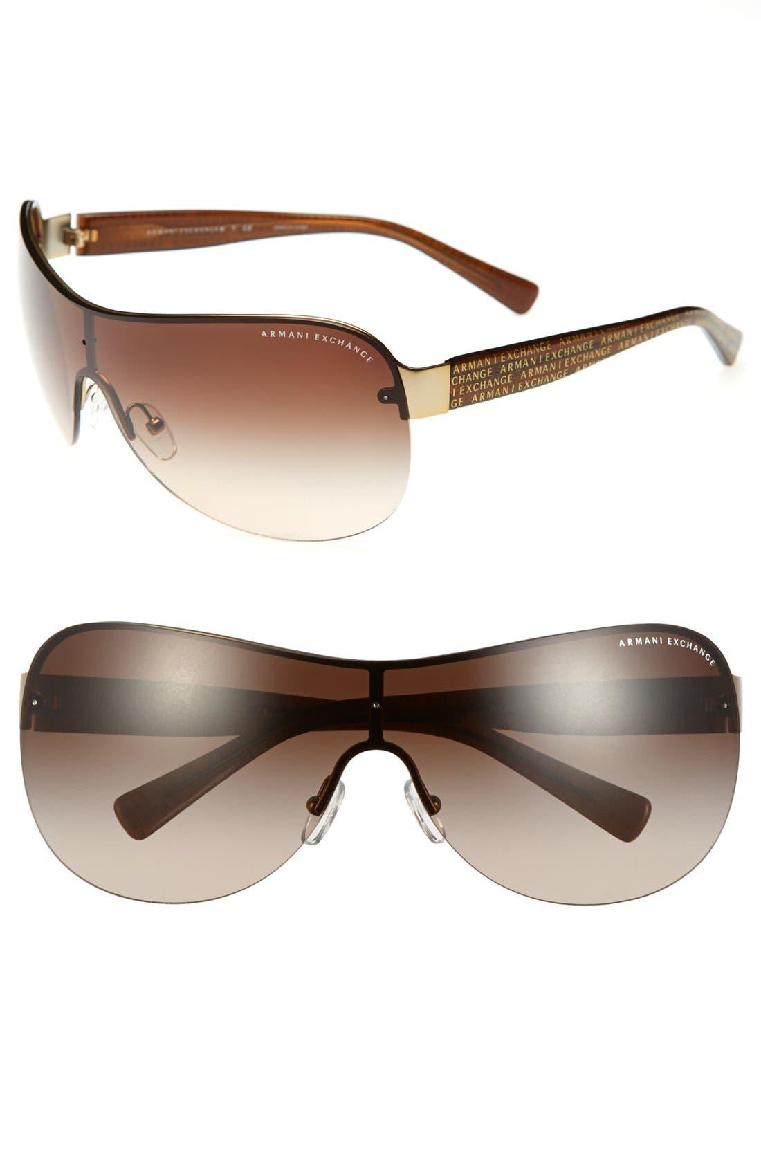 Main Image - AX Armani Exchange Shield Sunglasses