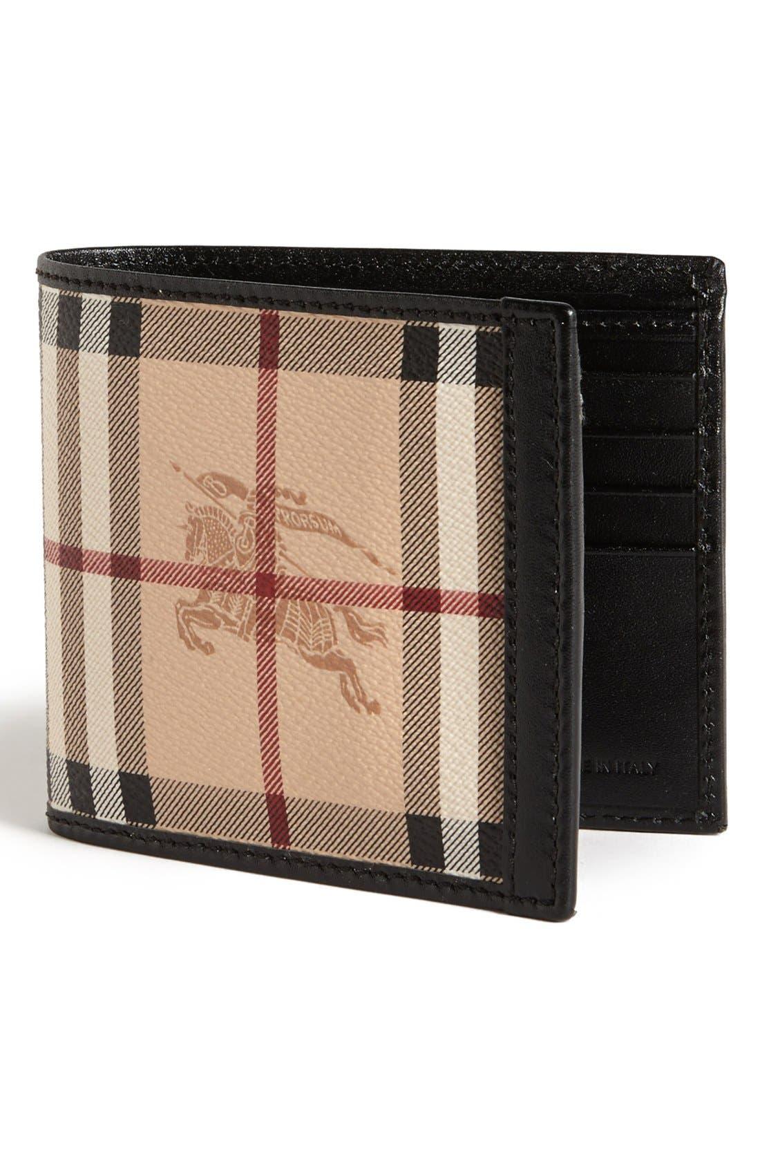 Main Image - Burberry Haymarket Check Print Billfold Wallet