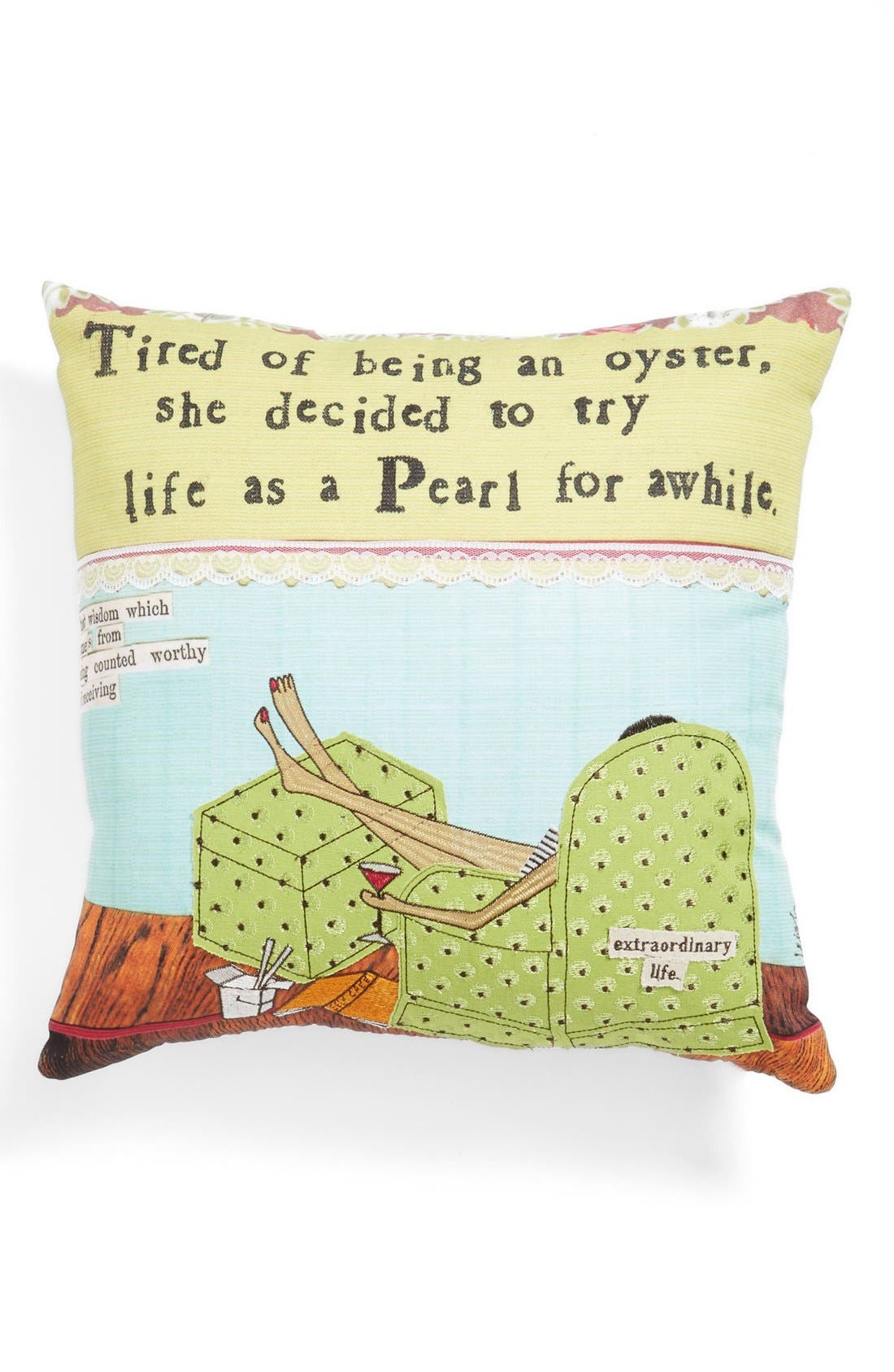 Main Image - Creative Co-Op 'Oyster/Pearl' Pillow