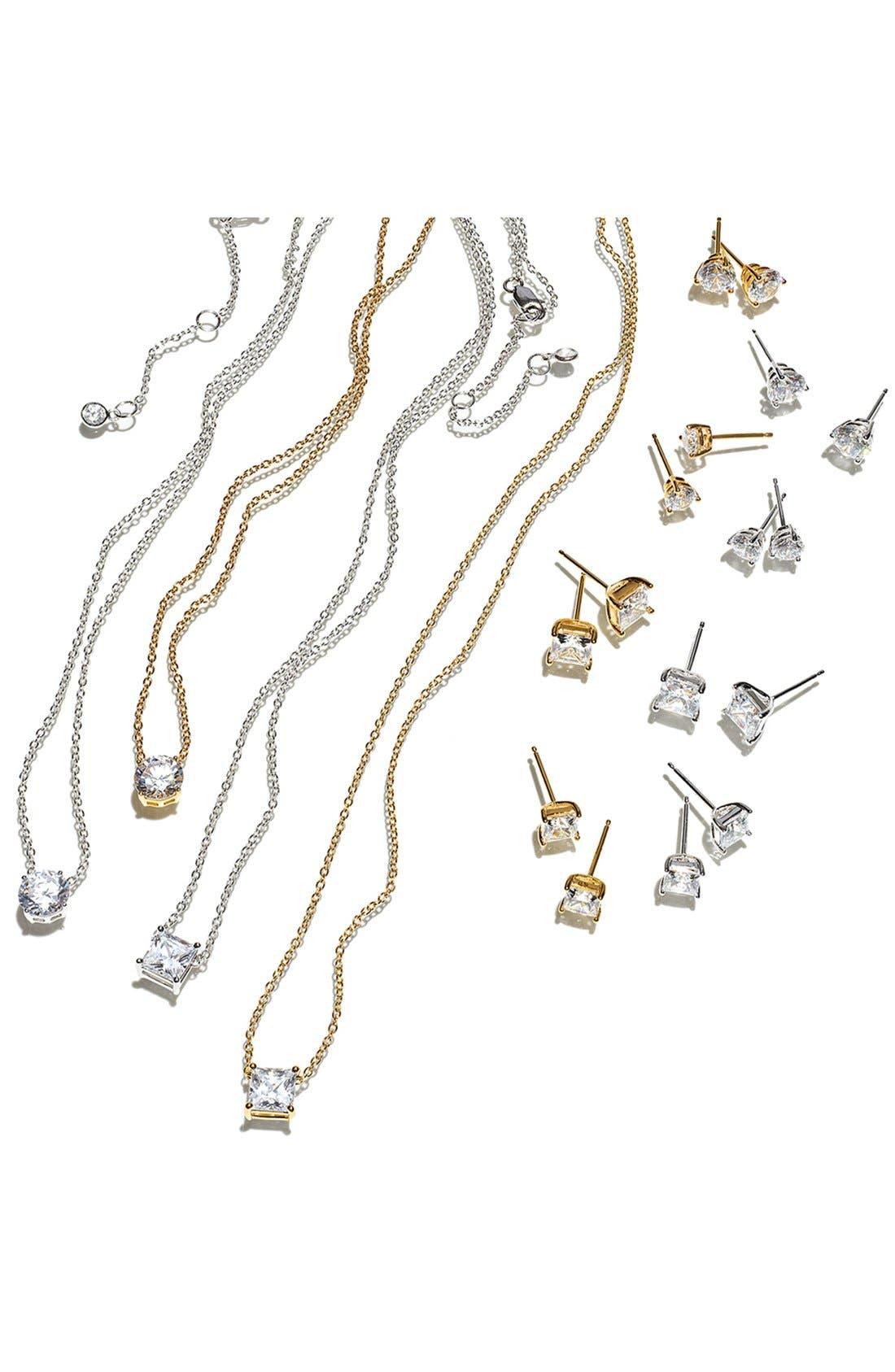 Alternate Image 3  - Nordstrom 2ct tw Princess Stud Earrings