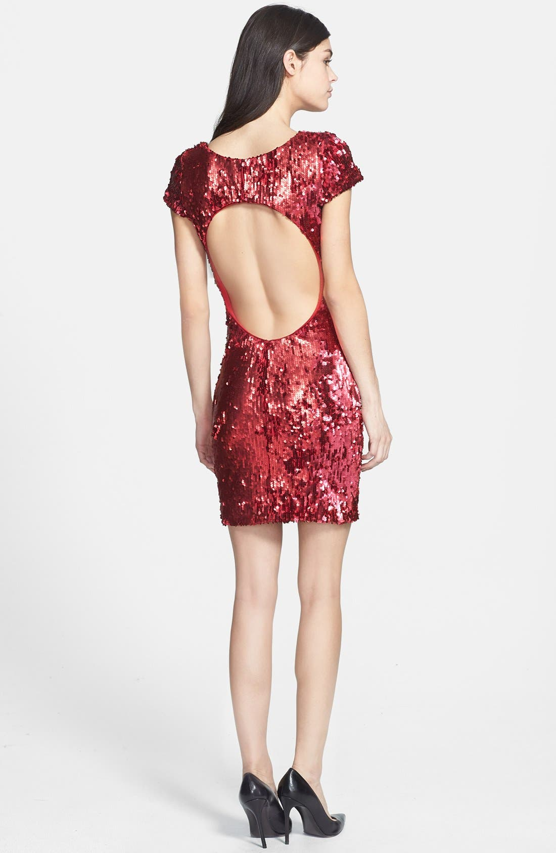 Alternate Image 2  - Dress the Population 'Gabriella' Back Cutout Sequin Body-Con Dress