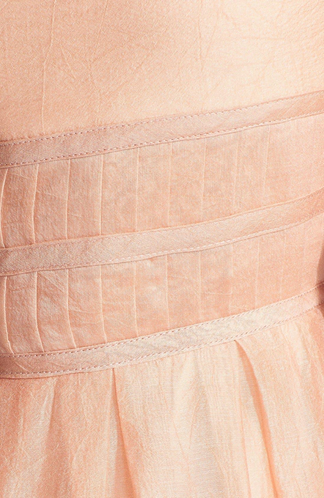Alternate Image 4  - Ivy & Blu Crinkled Pleat Fit & Flare Dress