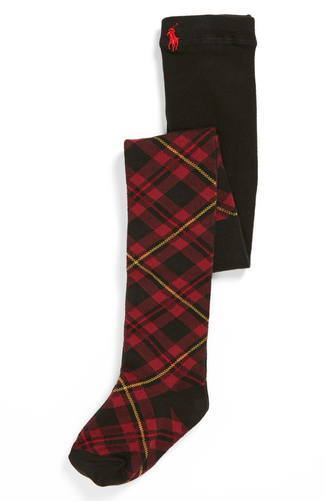 Alternate Image 1 Selected - Polo Ralph Lauren Black Watch Plaid Tights (Walker, Toddler & Little Kid)