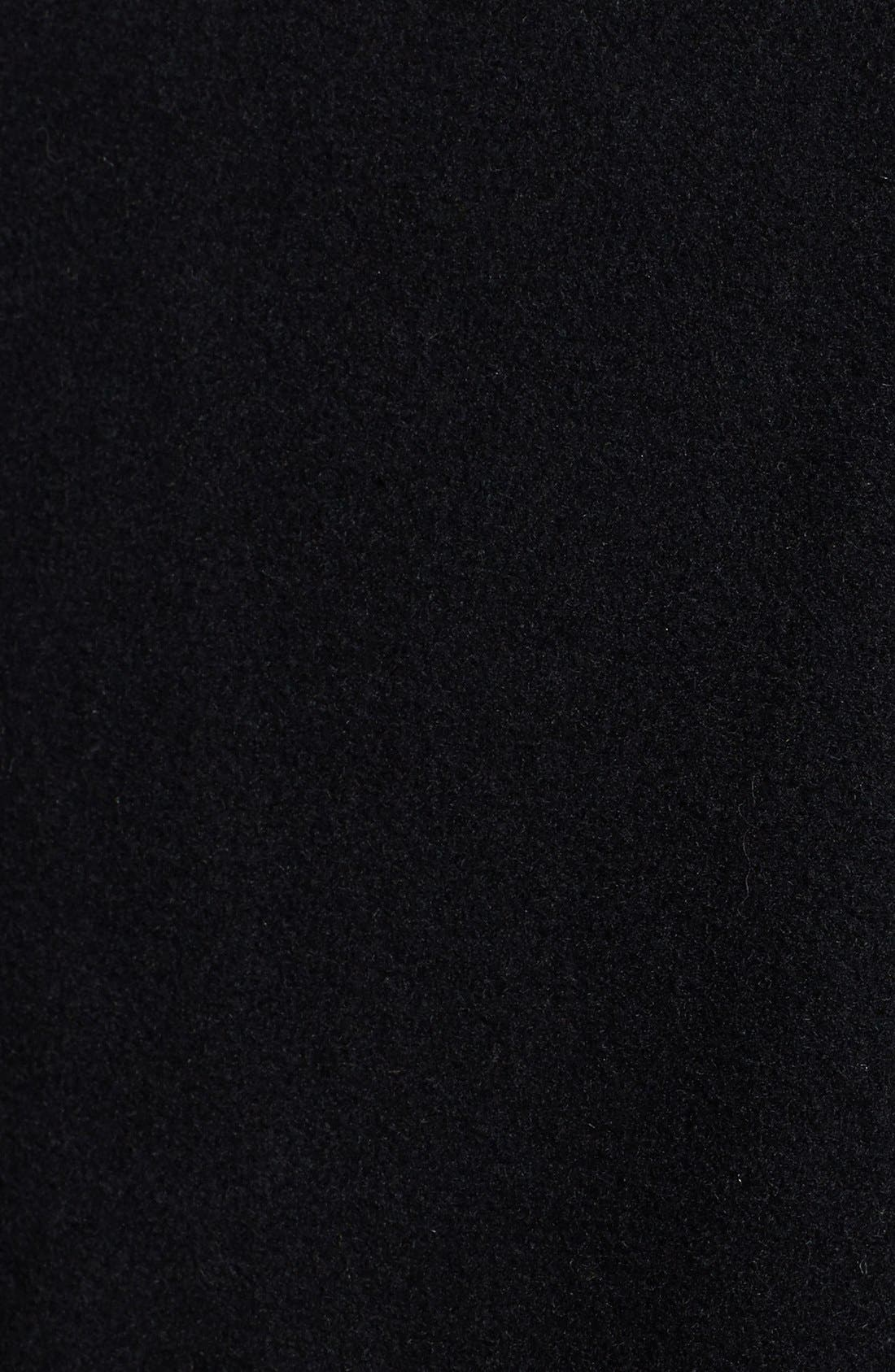 Alternate Image 3  - Ellen Tracy Single Breasted Long Wool Blend Coast (Plus Size)