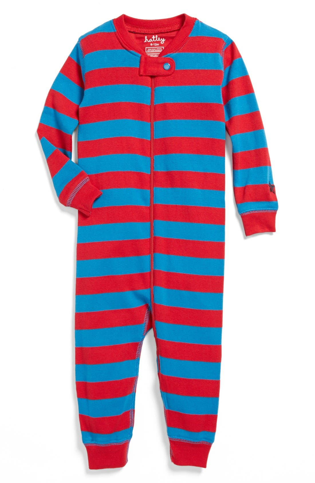 Alternate Image 1 Selected - Hatley 'Electric Stripes' Romper (Baby)