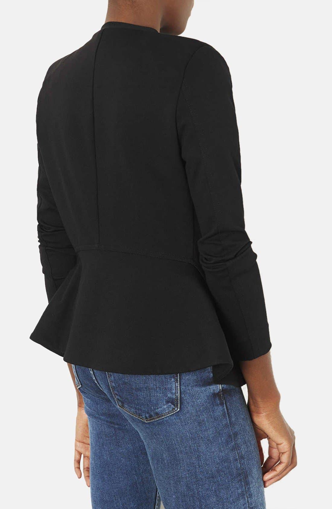 Alternate Image 2  - Topshop 'Nicole' Tailored Peplum Jacket