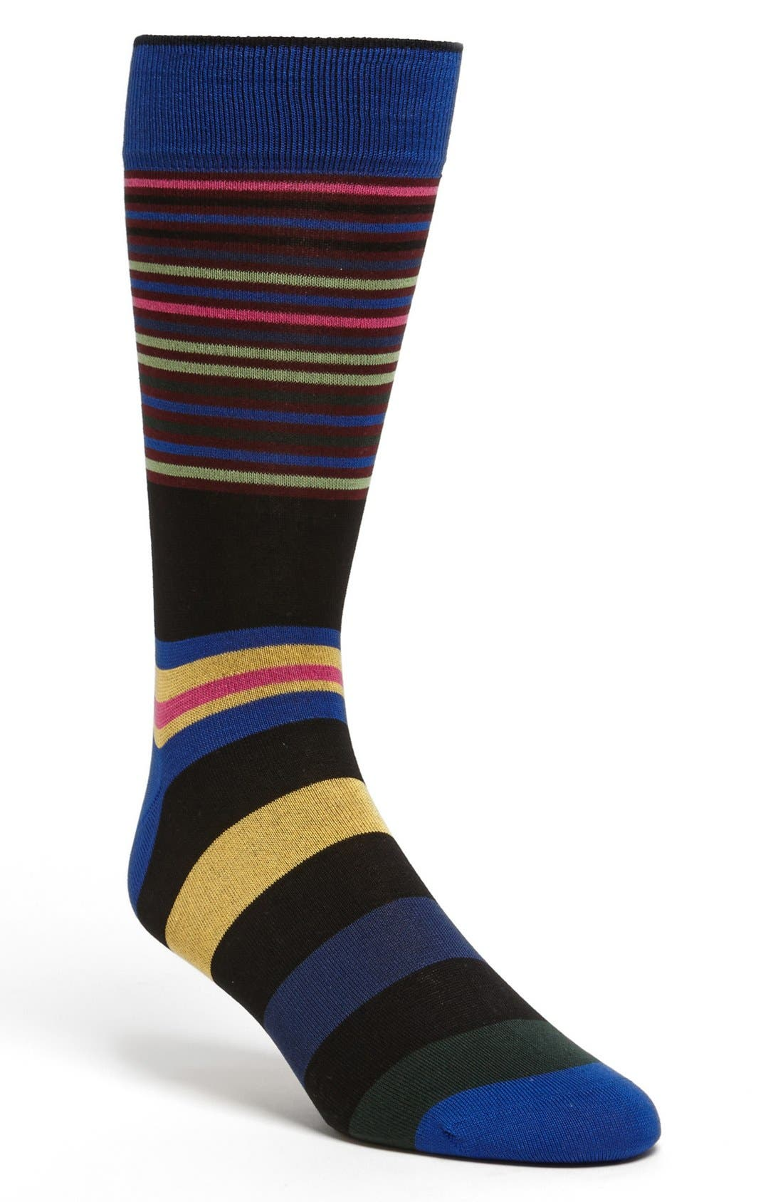 Alternate Image 1 Selected - Bugatchi Stripe Socks