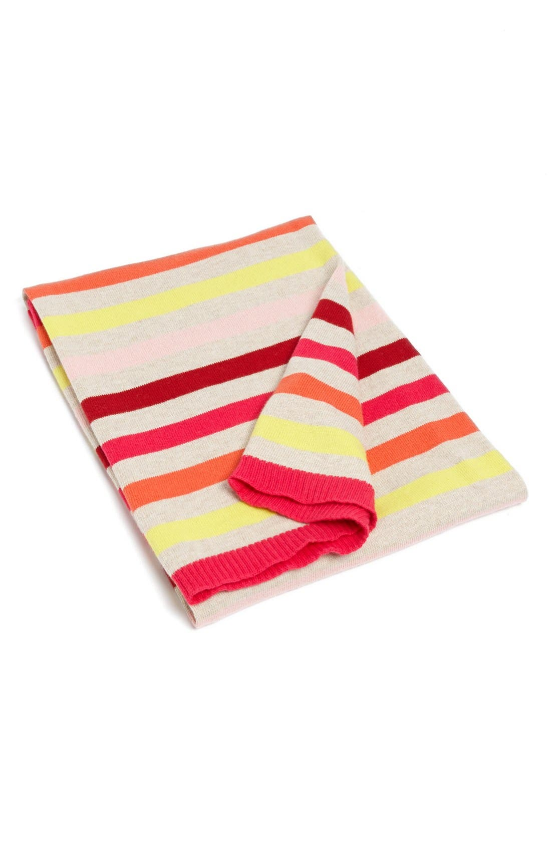 Alternate Image 1 Selected - Tucker + Tate Striped Cotton & Cashmere Blanket