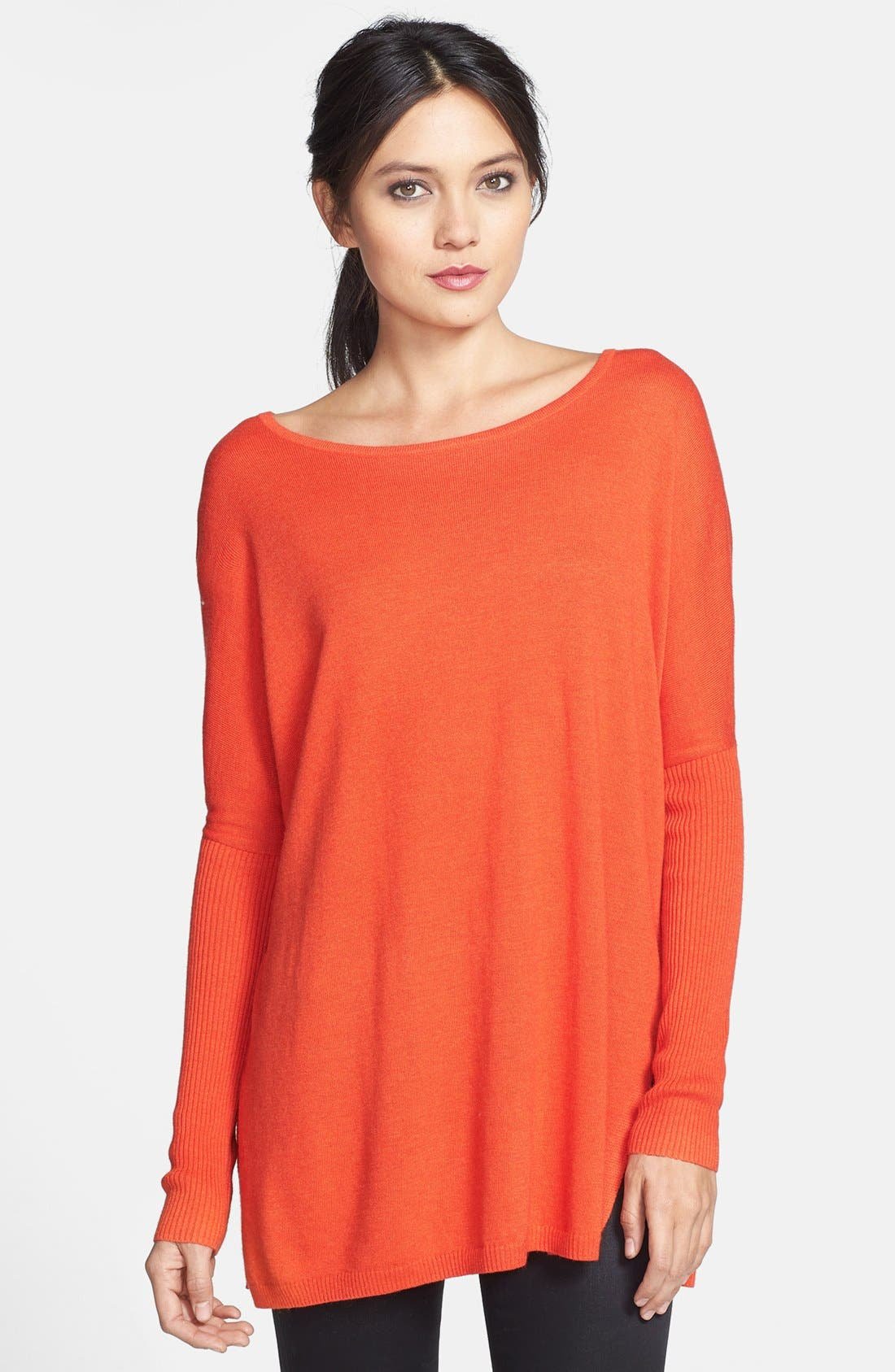 Main Image - Trouvé Side Slit Tunic Sweater