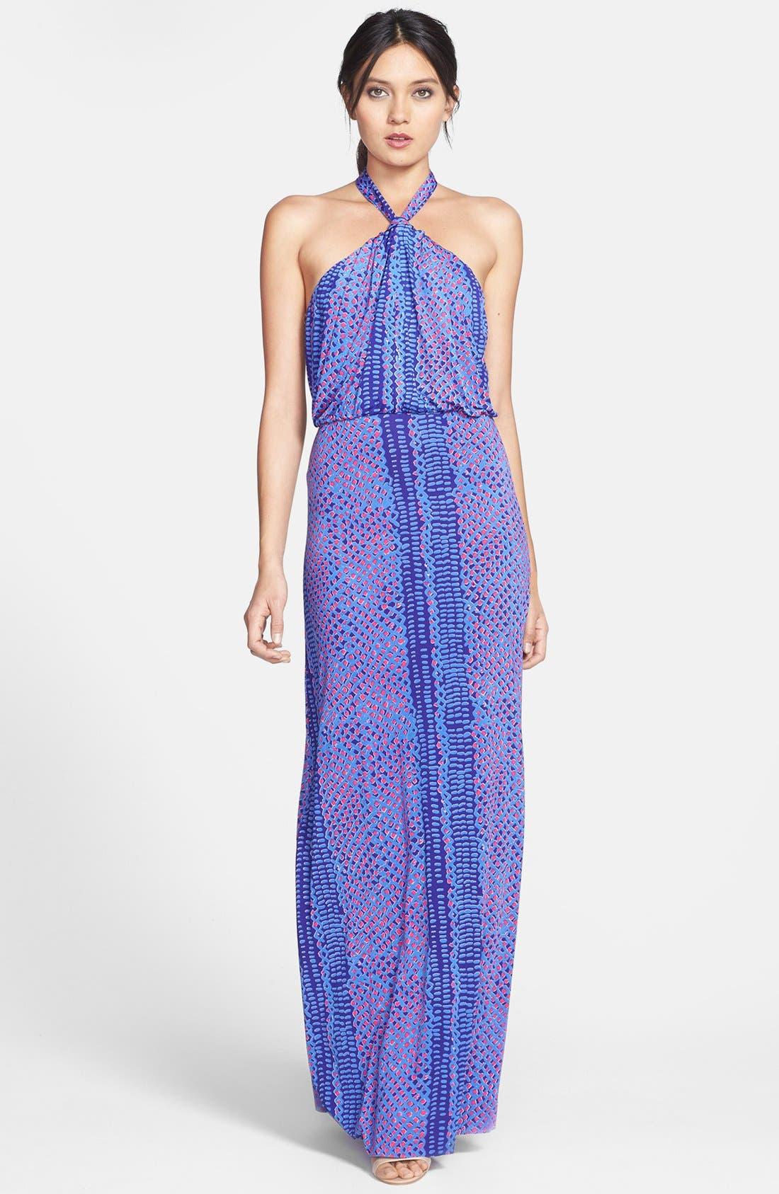 Alternate Image 1 Selected - T Bags Print Jersey Halter Maxi Dress