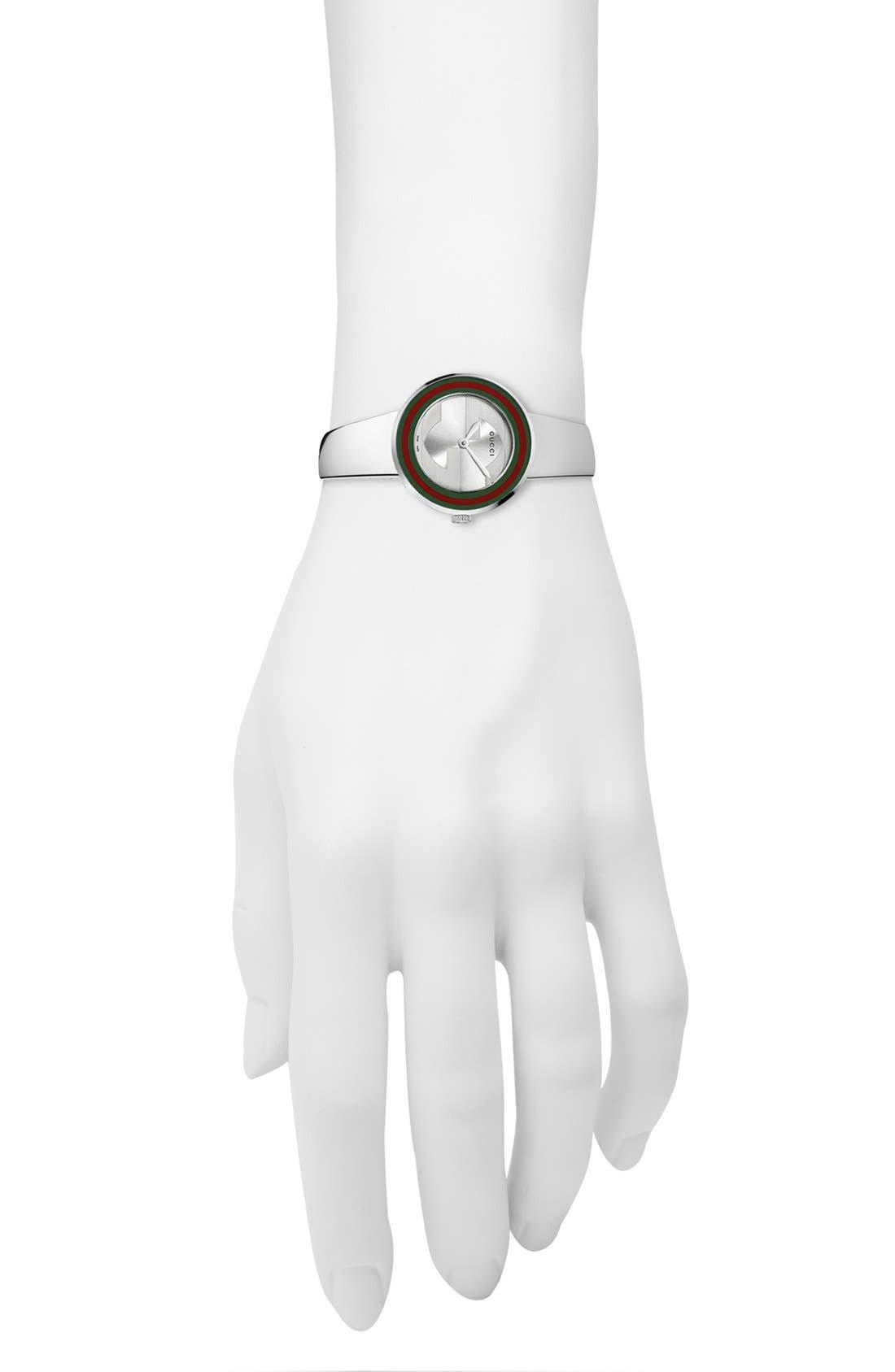 Alternate Image 2  - Gucci 'U Play' Steel Bangle Watch, 27mm
