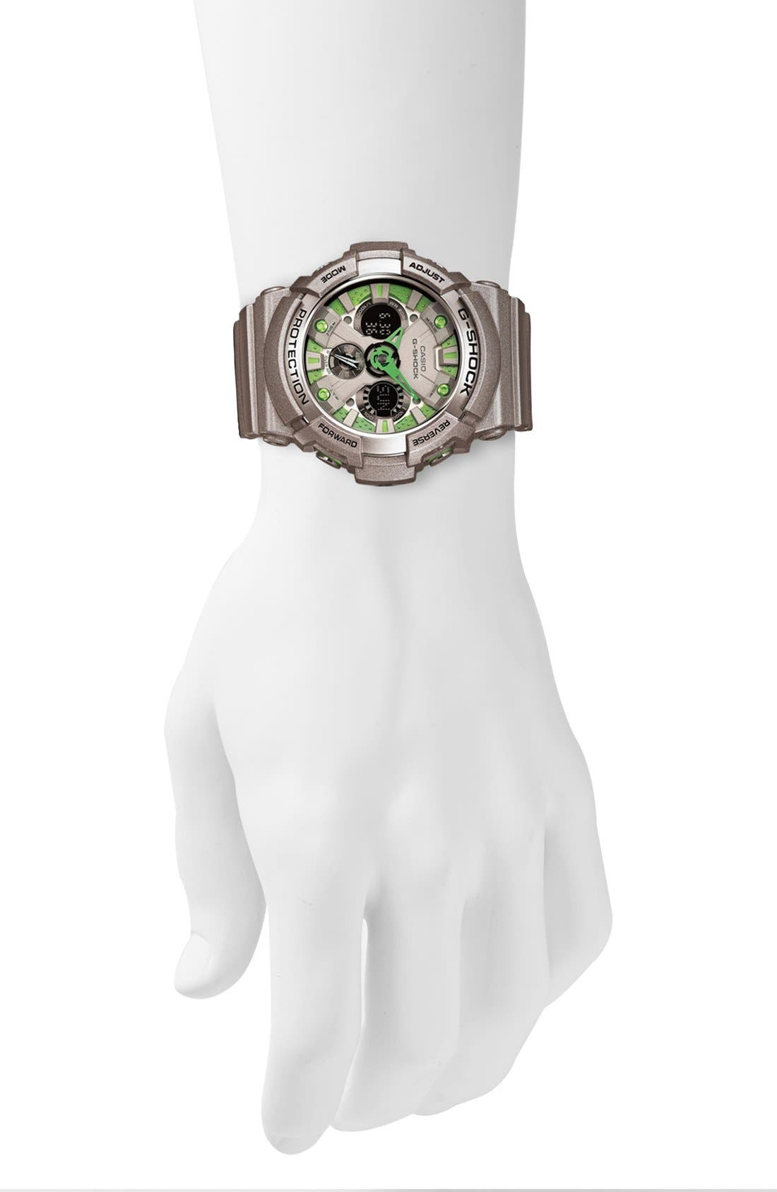 Alternate Image 2  - G-Shock 'X-Large' Dual Movement Watch, 55mm x 51mm