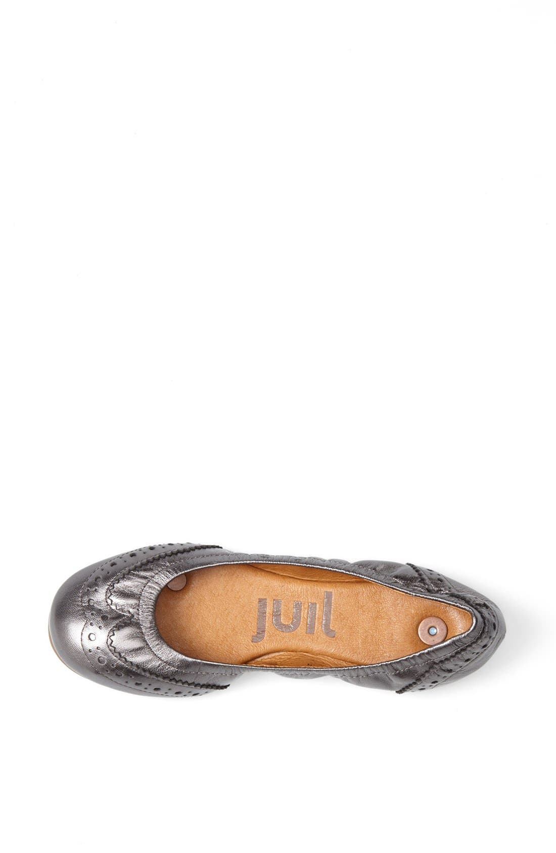 Alternate Image 3  - Juil 'The Wing Tip' Copper Grounded Metallic Leather Flat