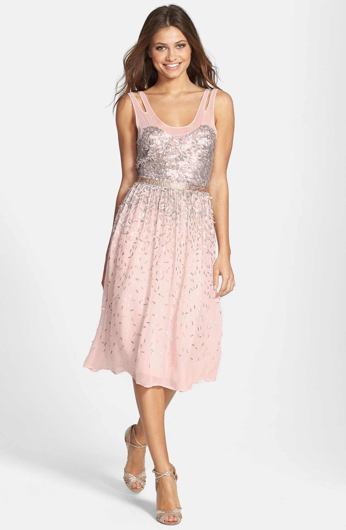 Main Image - French Connection 'Shimmer Shower' Embellished Dress