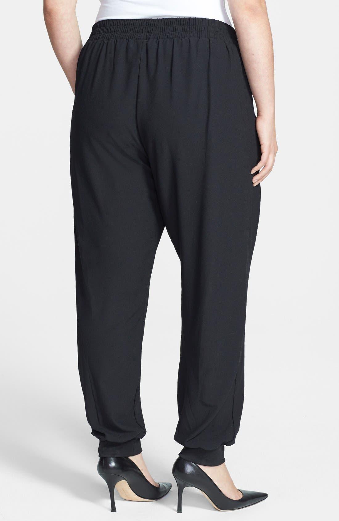 Alternate Image 2  - Bobeau Track Pants (Plus Size)