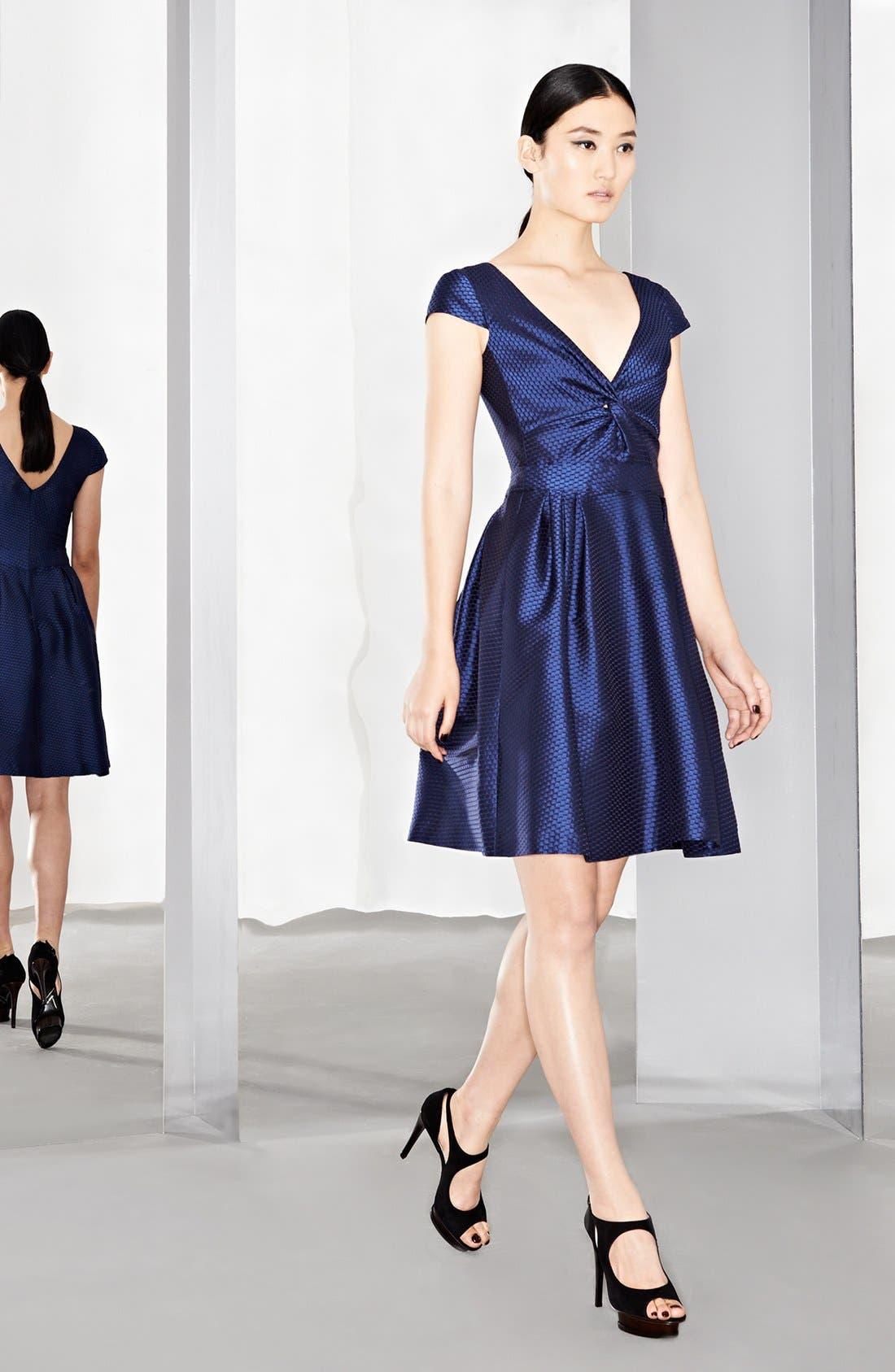 Alternate Image 4  - Armani Collezioni Honeycomb Weave Full Skirt Dress