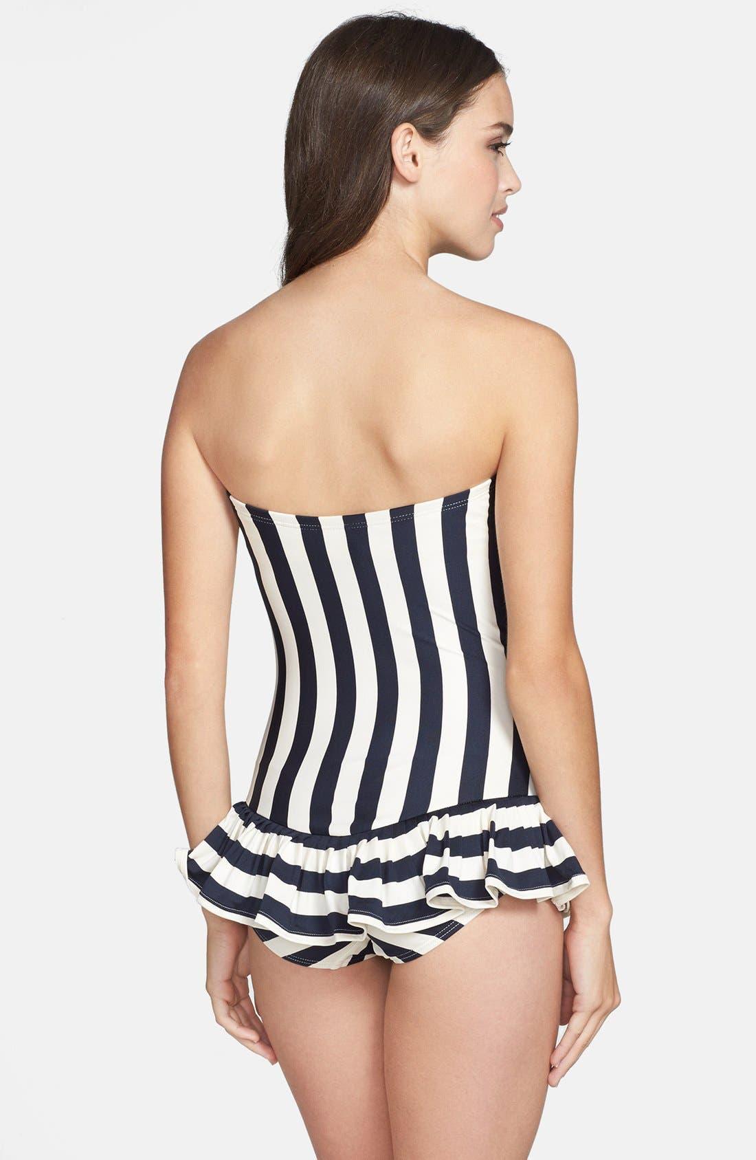 Alternate Image 2  - Juicy Couture Beach 'Boho Stripe' Bandeau Swimdress