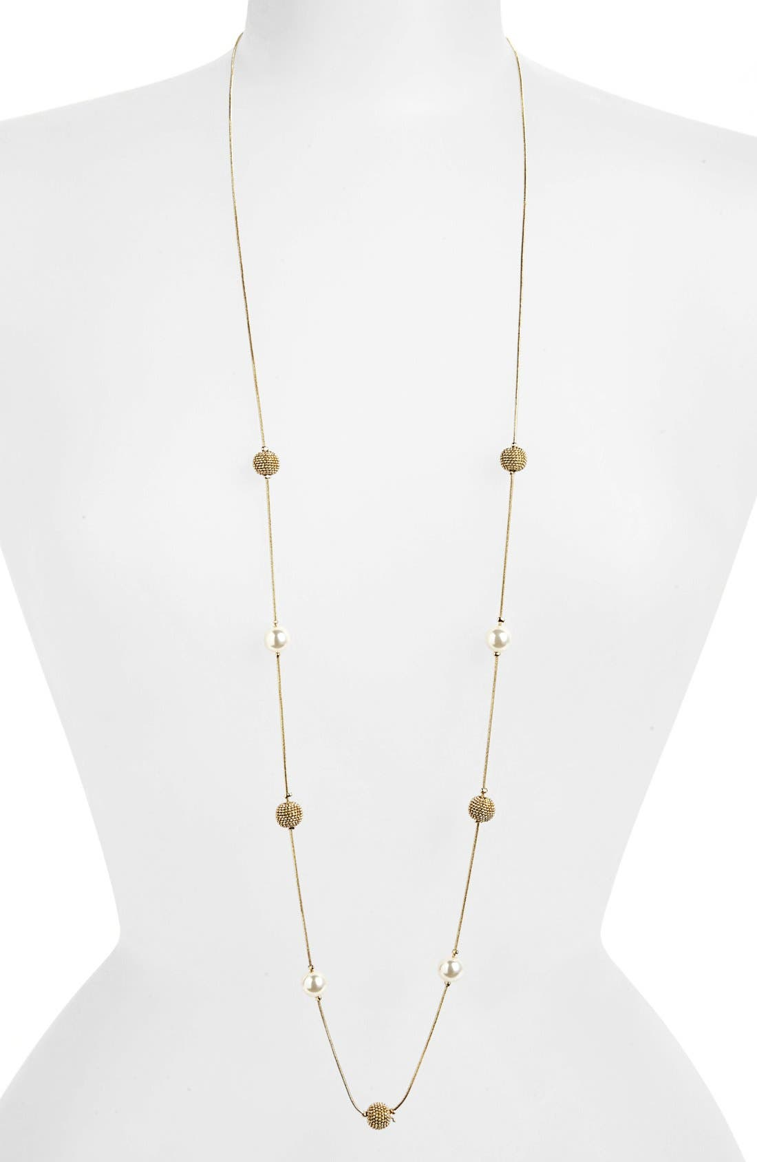 Main Image - Anne Klein Long Station Necklace
