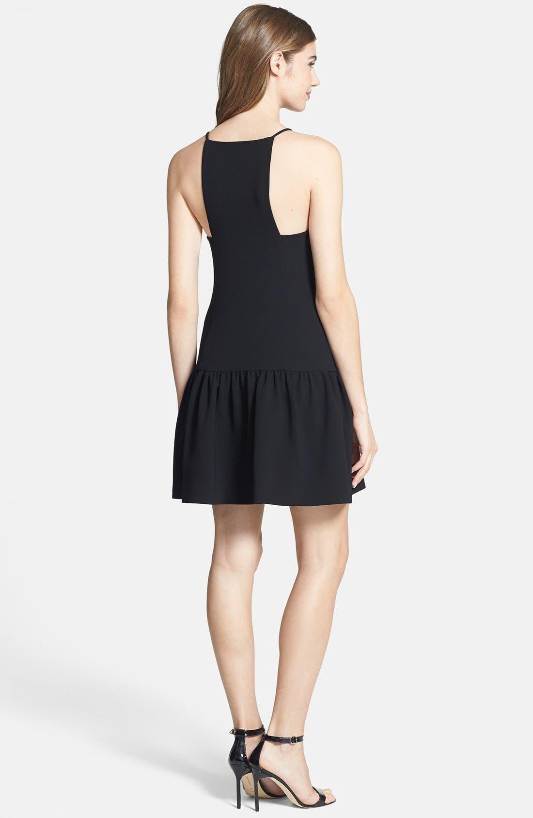 Alternate Image 2  - Trina Turk 'Doheny' Drop Waist Racerback Crepe Dress